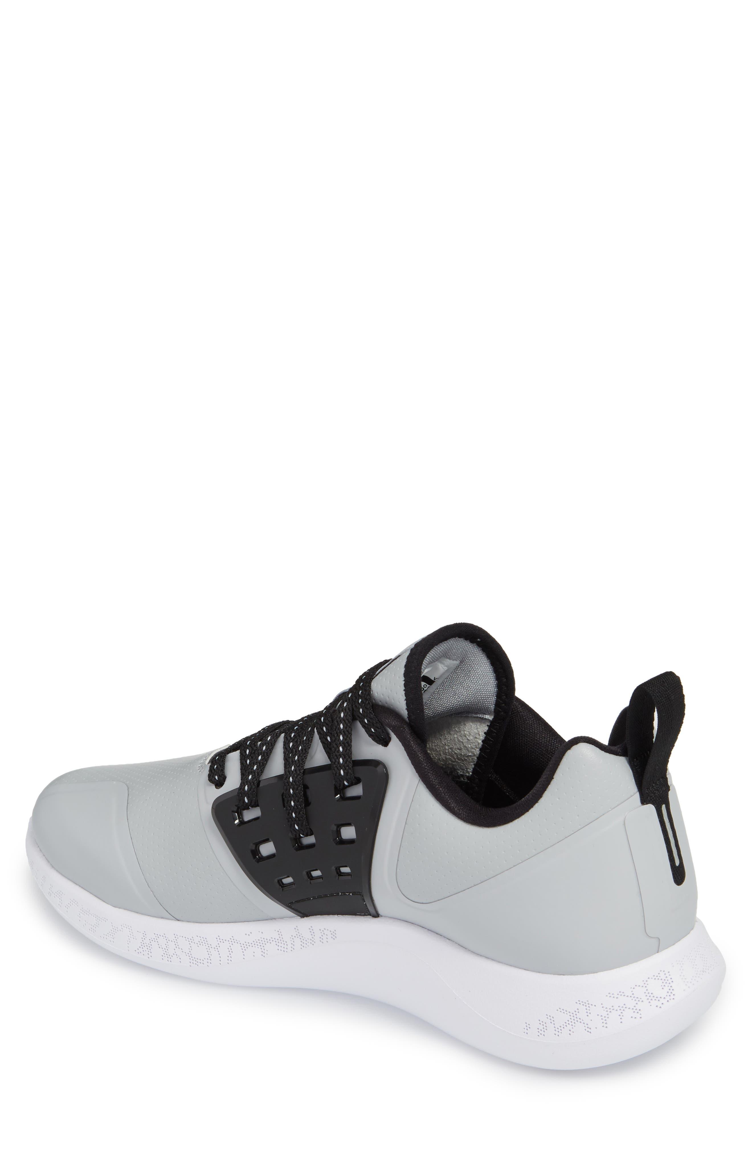 Jordan Grind Running Shoe,                             Alternate thumbnail 2, color,                             Wolf Grey/ Black/ White