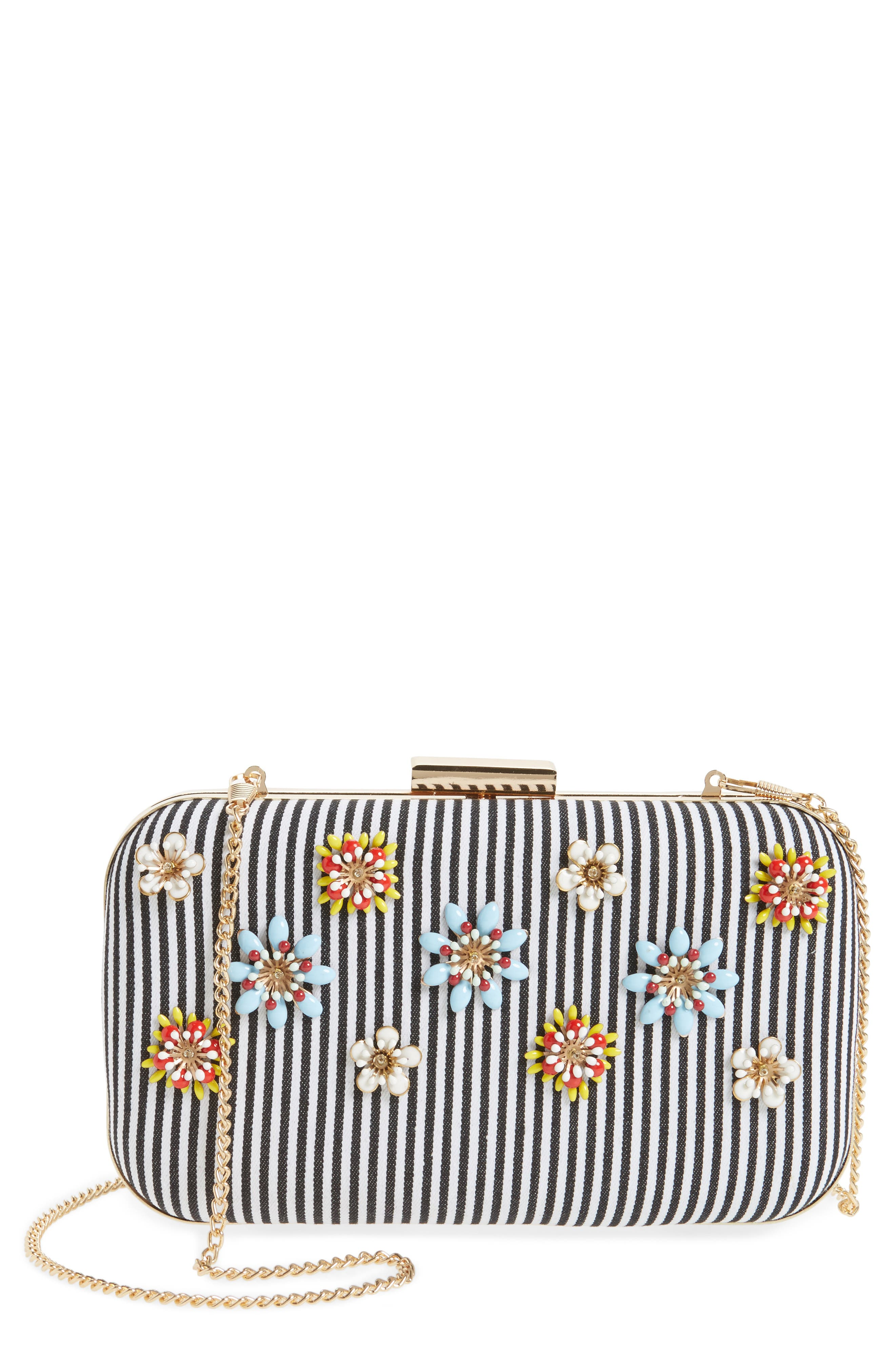 Alternate Image 1 Selected - Natasha Couture Floral Embellished Frame Clutch
