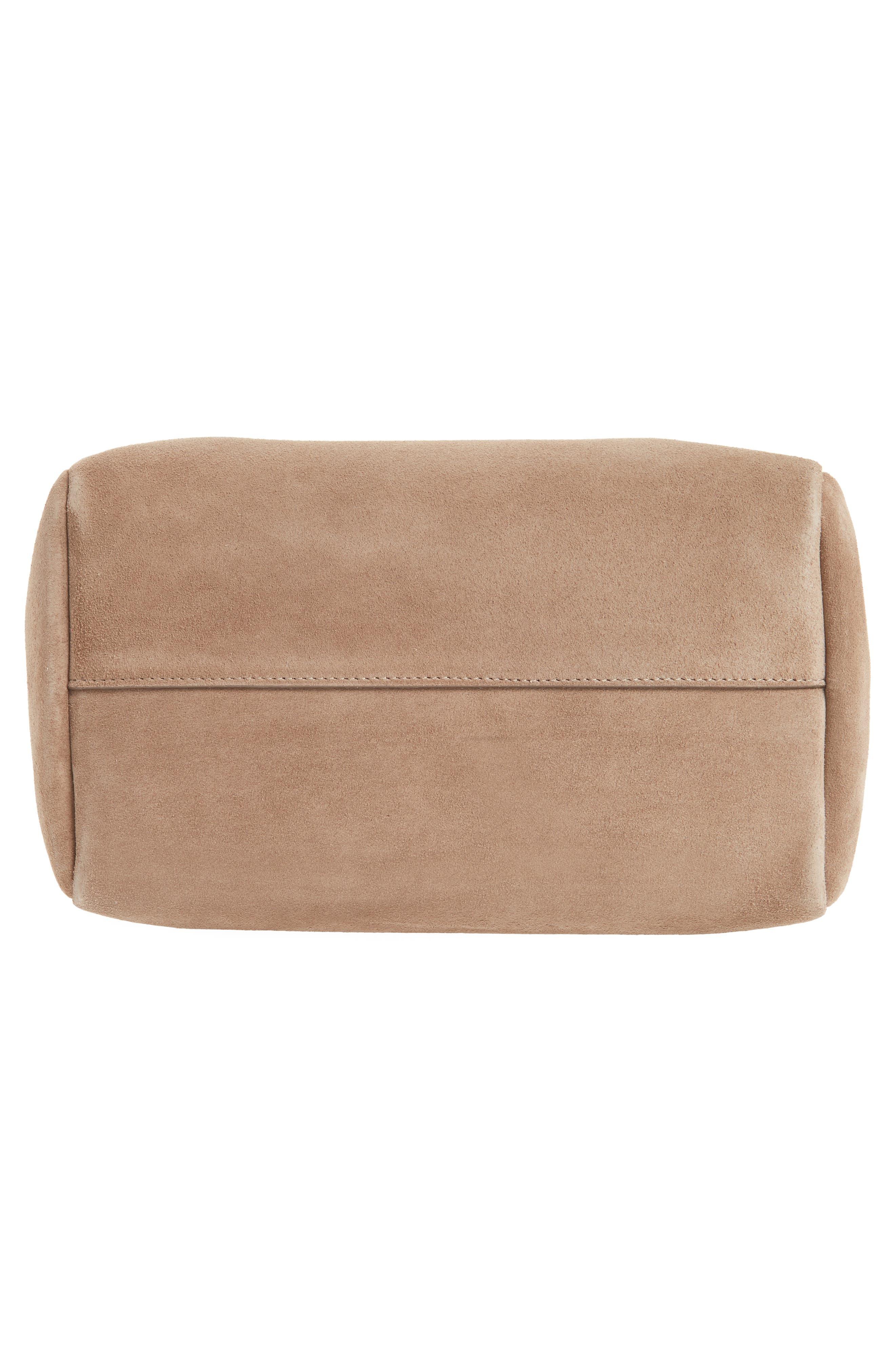 Small Allie Nappa Leather Bowling Bag,                             Alternate thumbnail 6, color,                             Light Mocha
