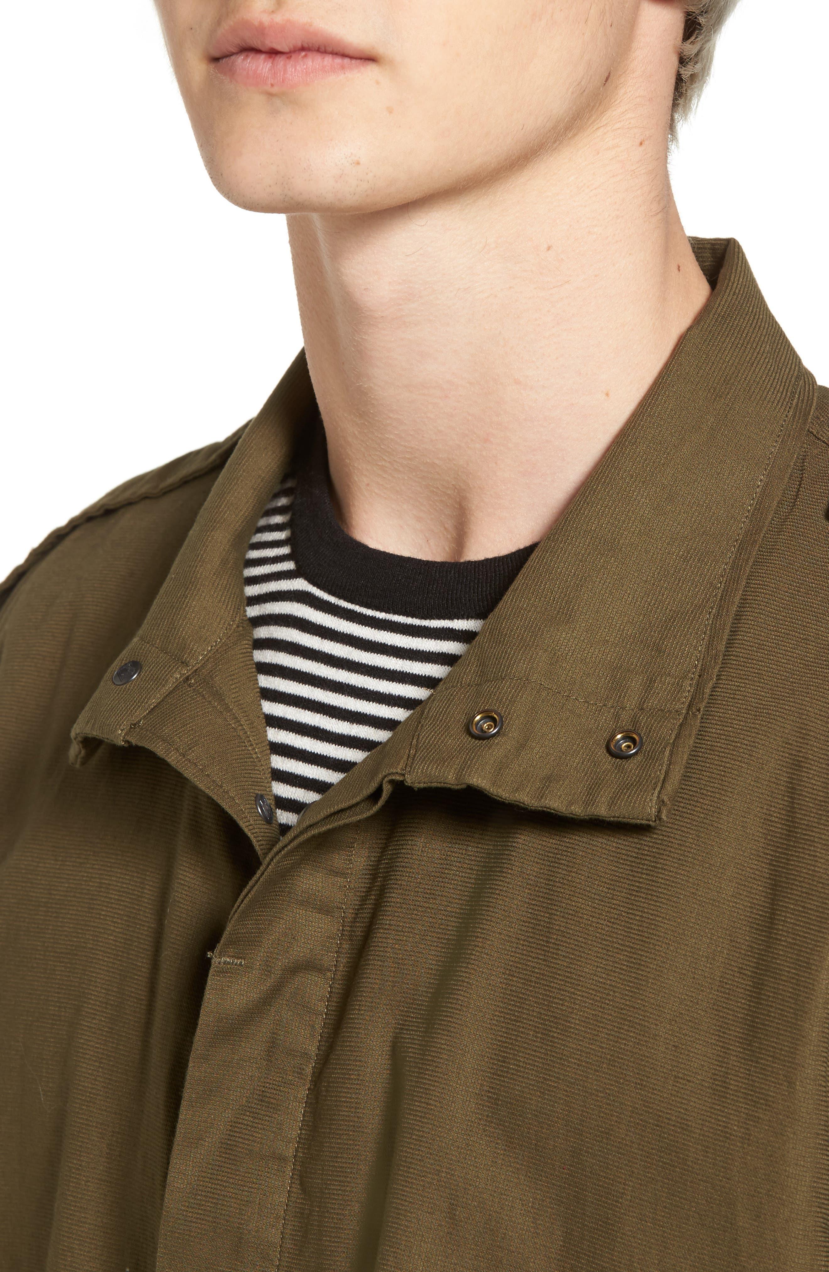 Shirt Jacket Parka,                             Alternate thumbnail 4, color,                             Army