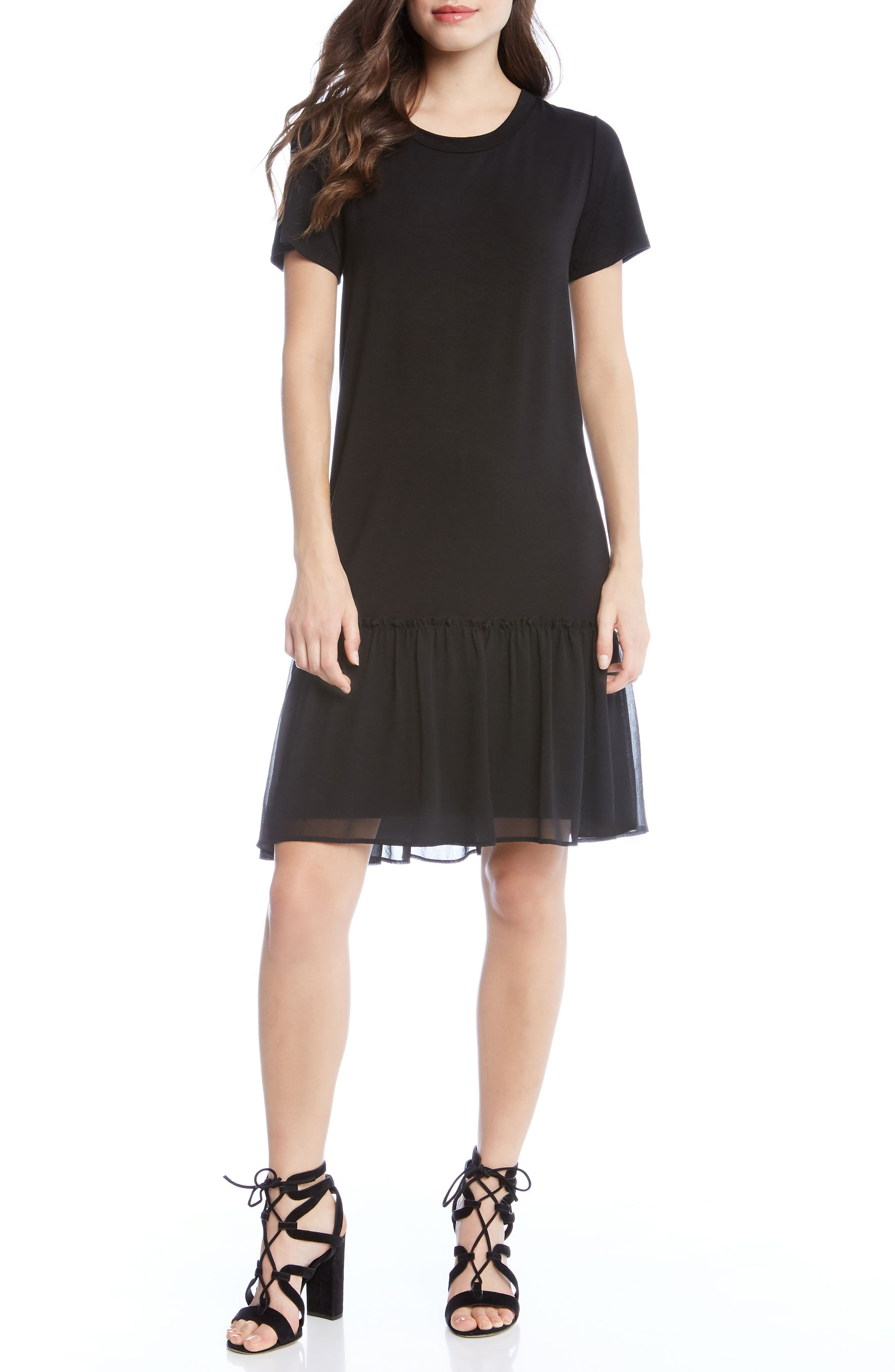 Main Image - Karen Kane Ruffle Hem Dress