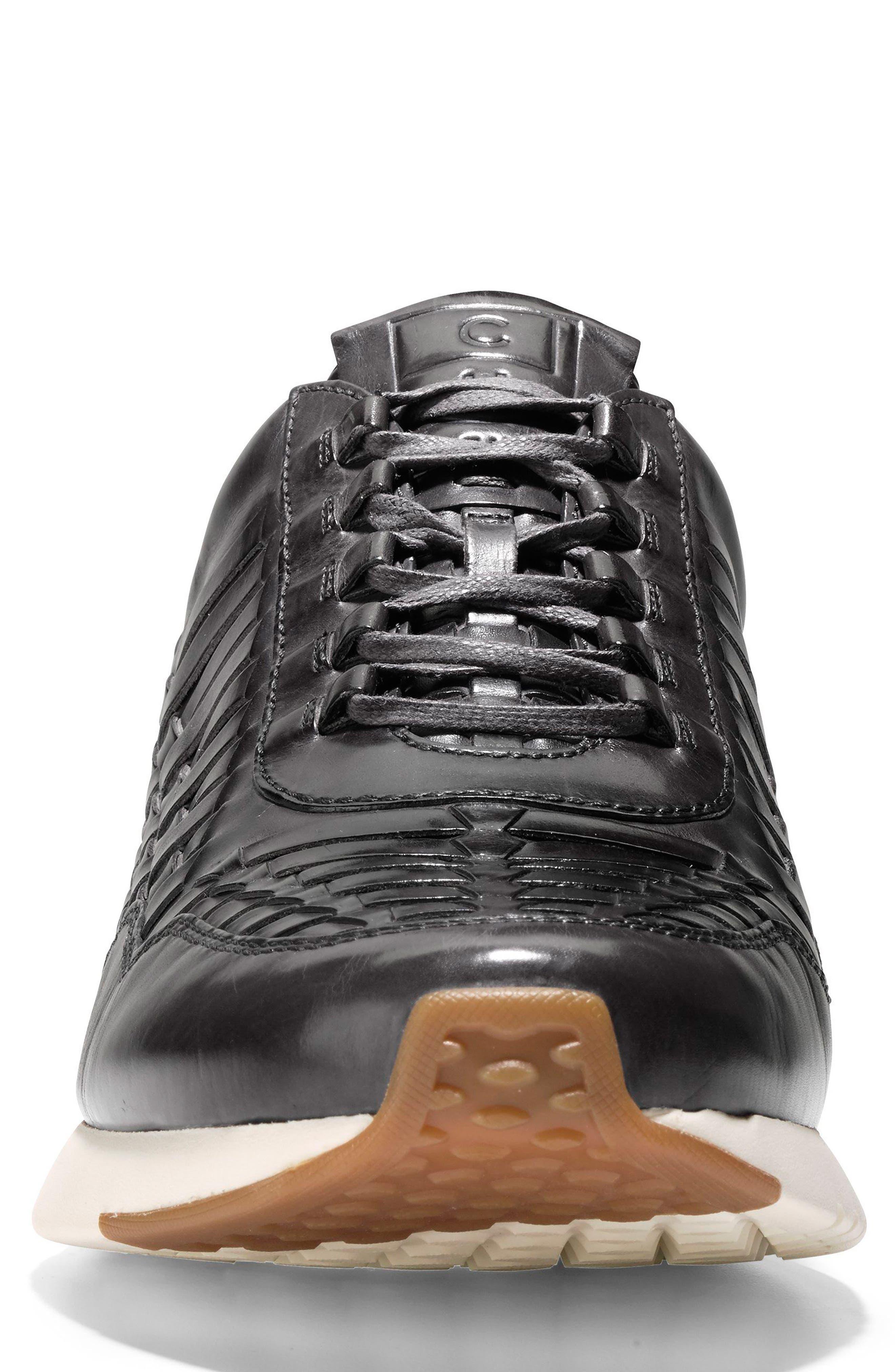 GrandPrø Runner Huarache Sneaker,                             Alternate thumbnail 4, color,                             Magnet Woven Burnish