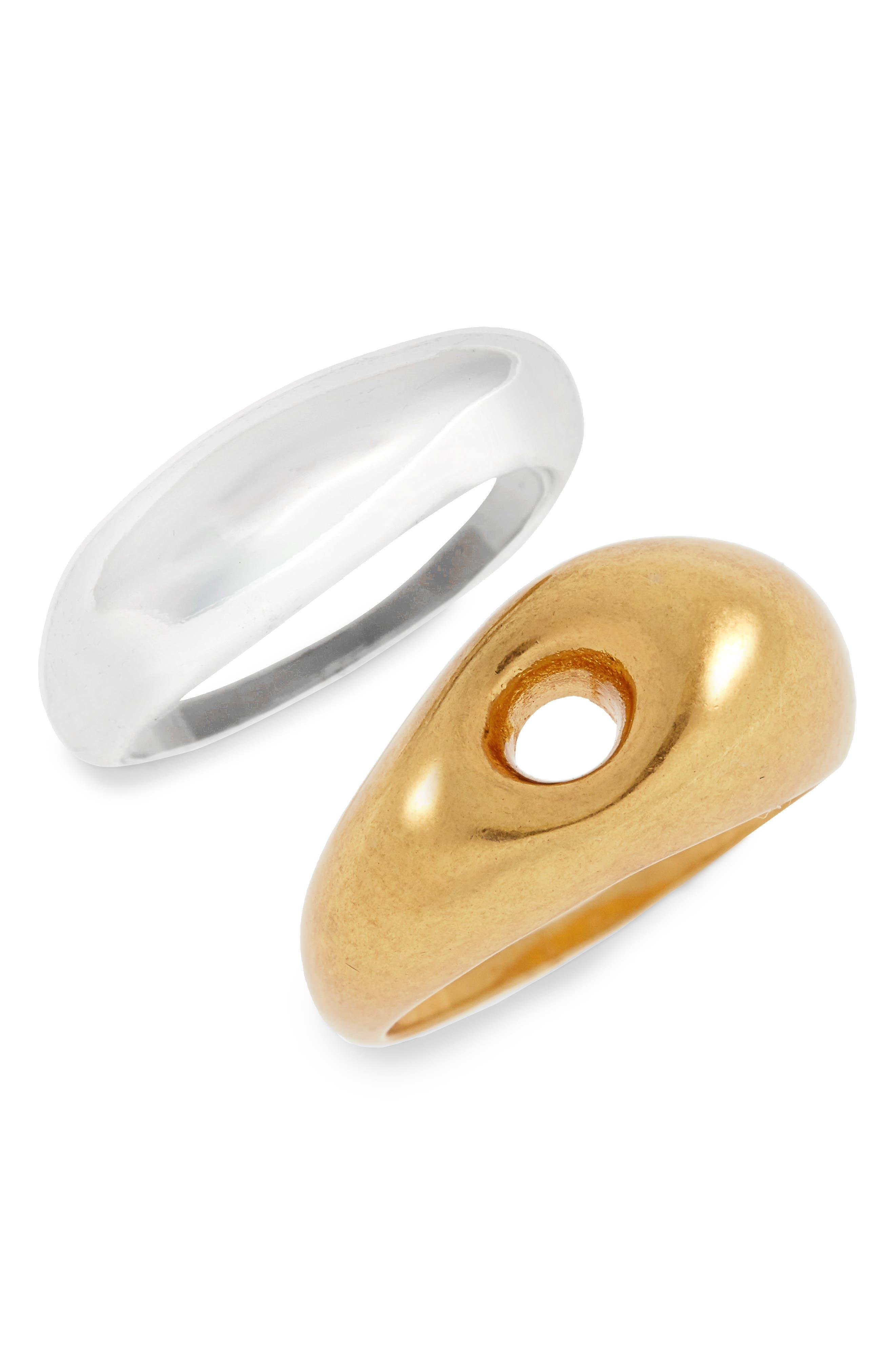 Sestine Set of 2 Rings,                         Main,                         color, Mixed Metal