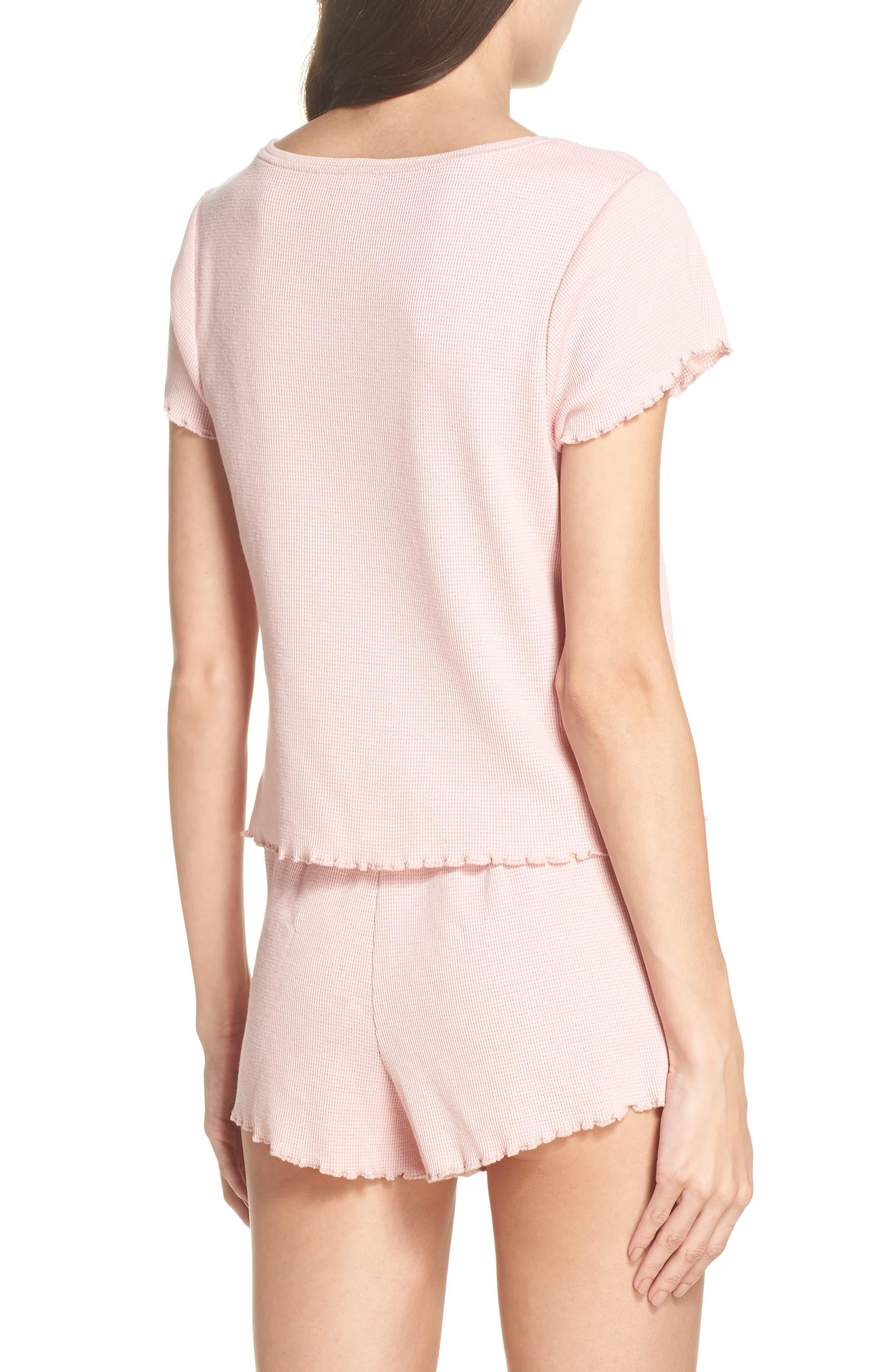 Thermal Short Pajamas,                             Alternate thumbnail 2, color,                             Pink Silver