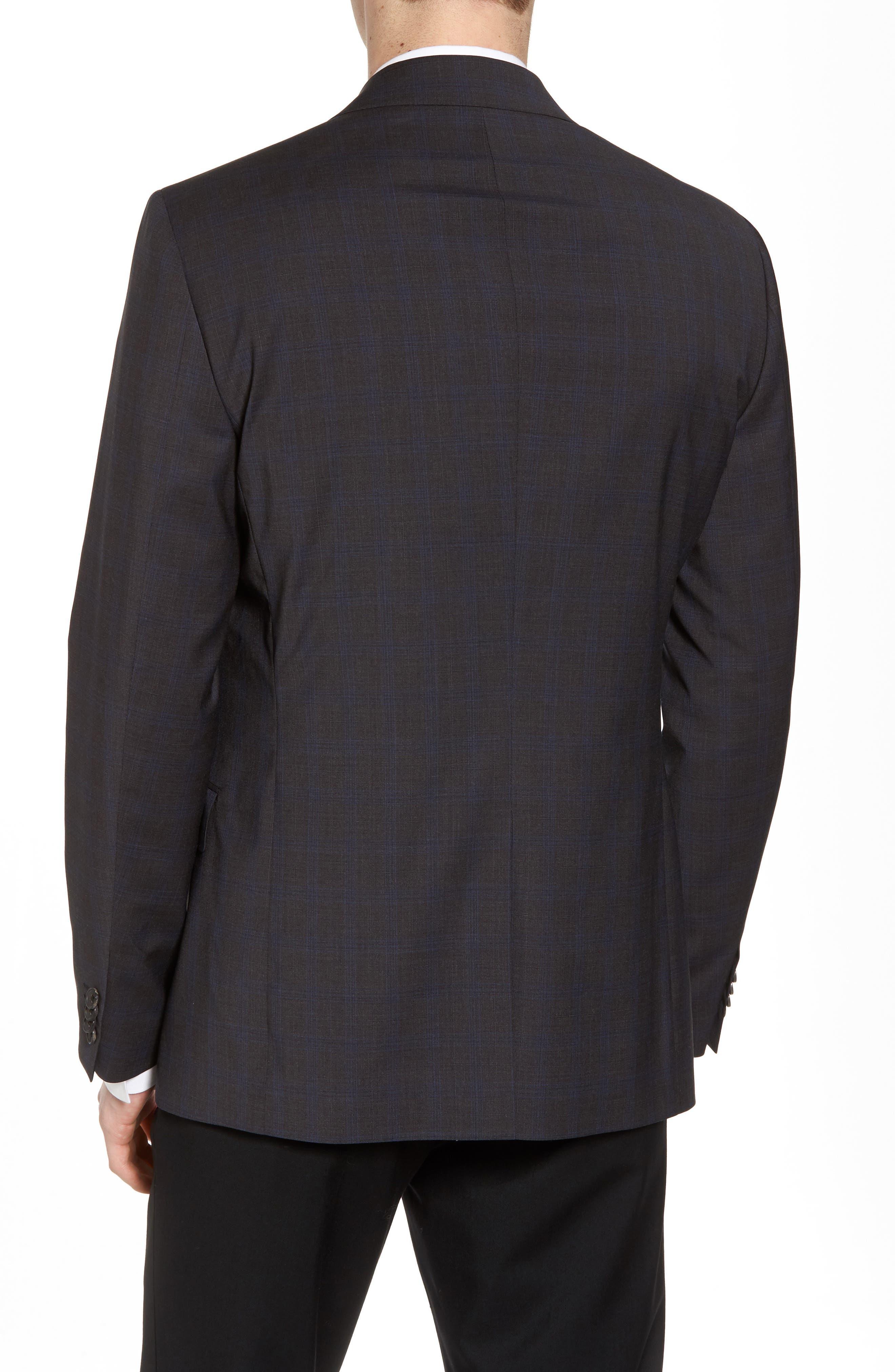 Wellar Grey Blue Plaid Sport Coat,                             Alternate thumbnail 2, color,                             Grey