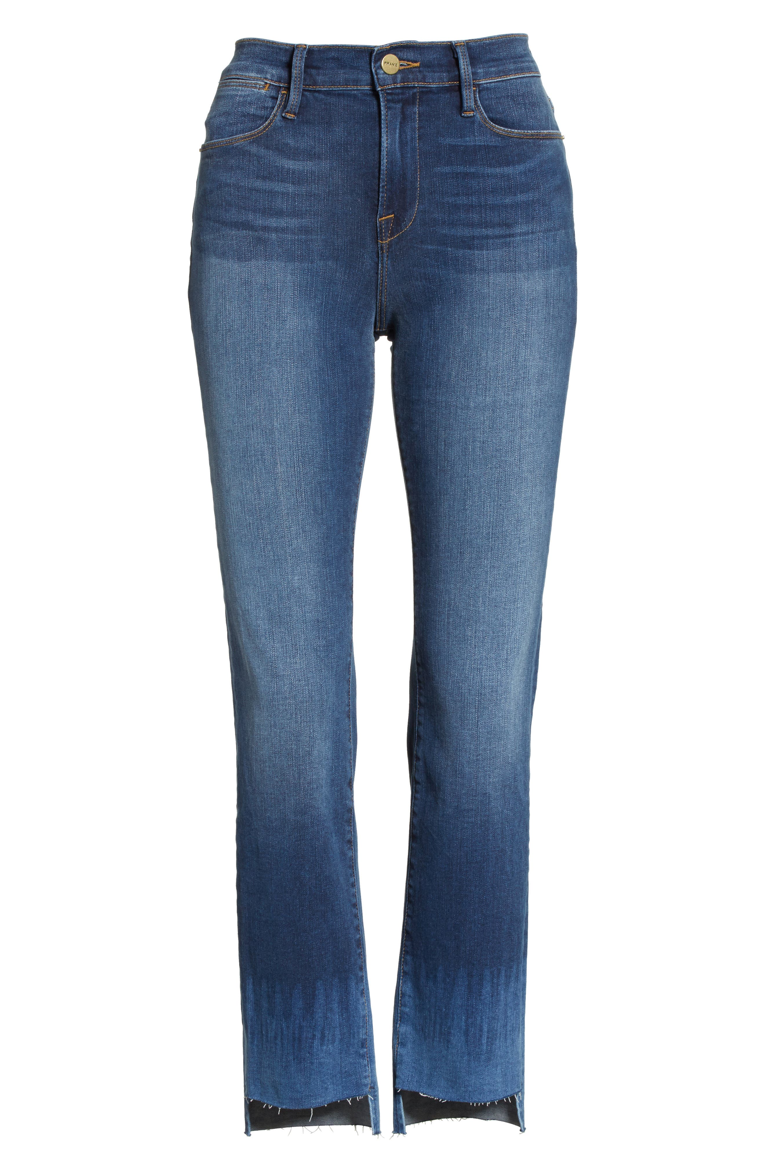 Le High Crop Straight Leg Jeans,                             Alternate thumbnail 6, color,                             Baynes Court