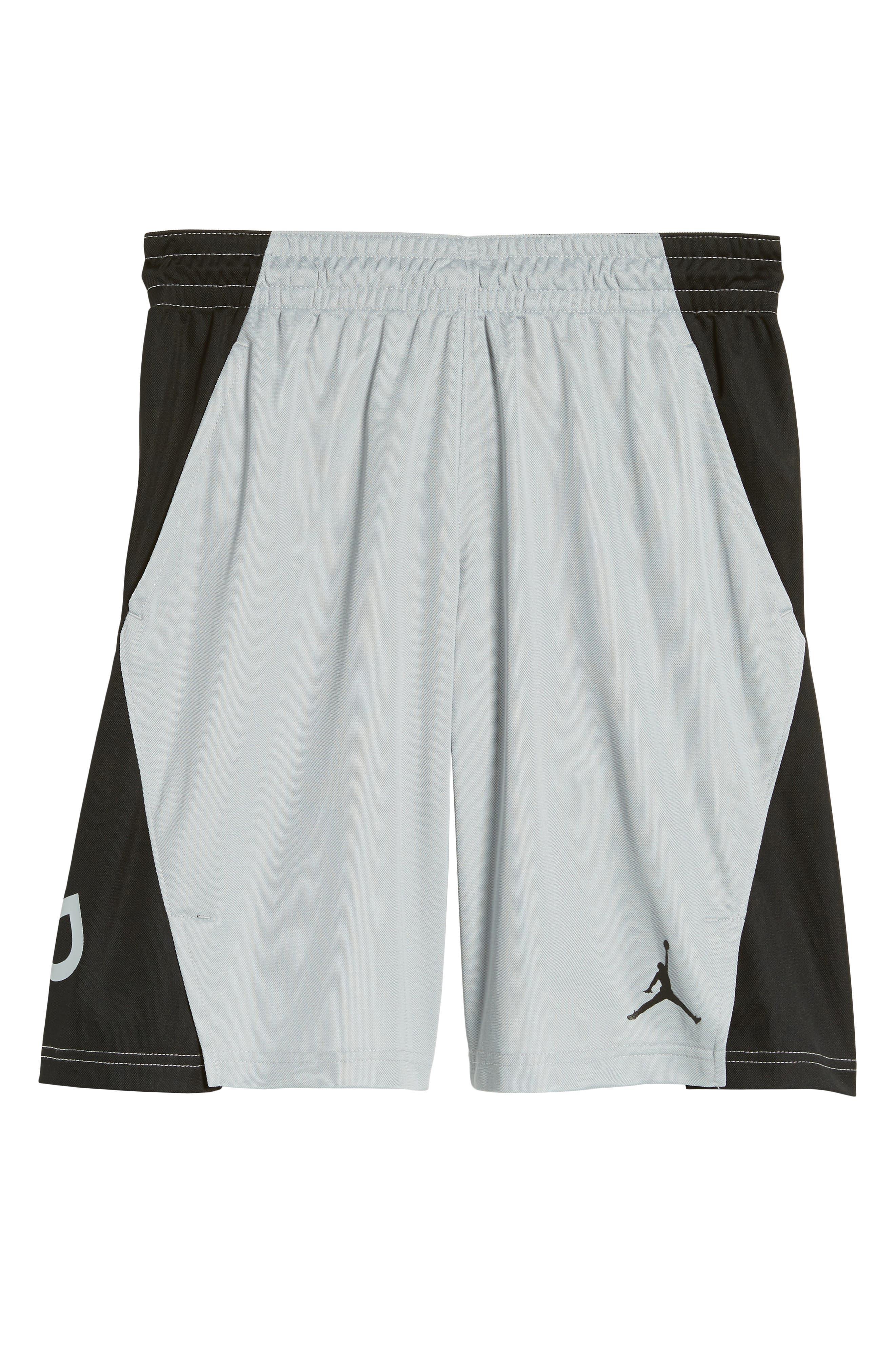 Flight Basketball Shorts,                         Main,                         color, Wolf Grey/ Black/ Black