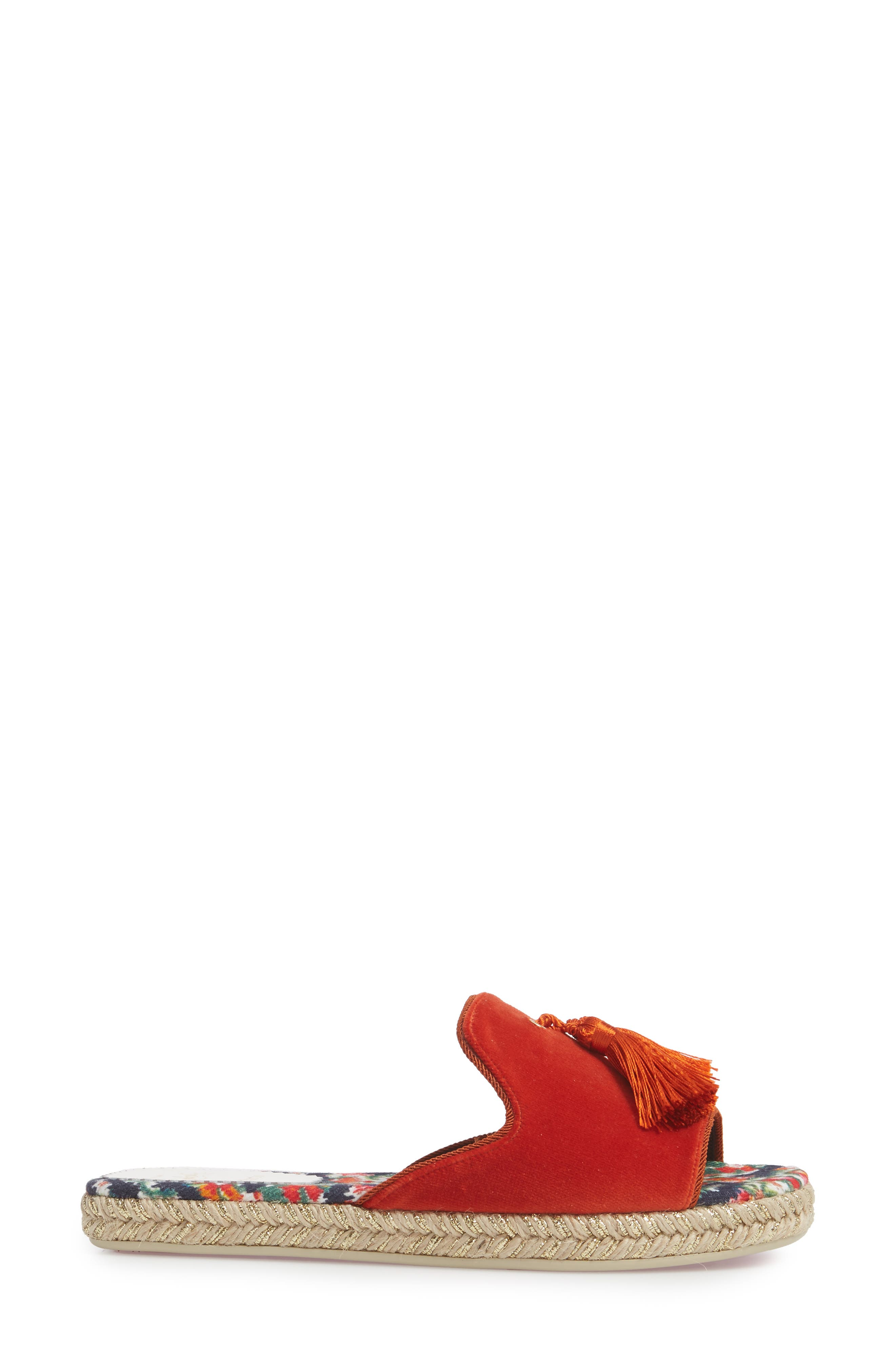 Pacha Tassel Open Toe Mule,                             Alternate thumbnail 3, color,                             Bisou Orange