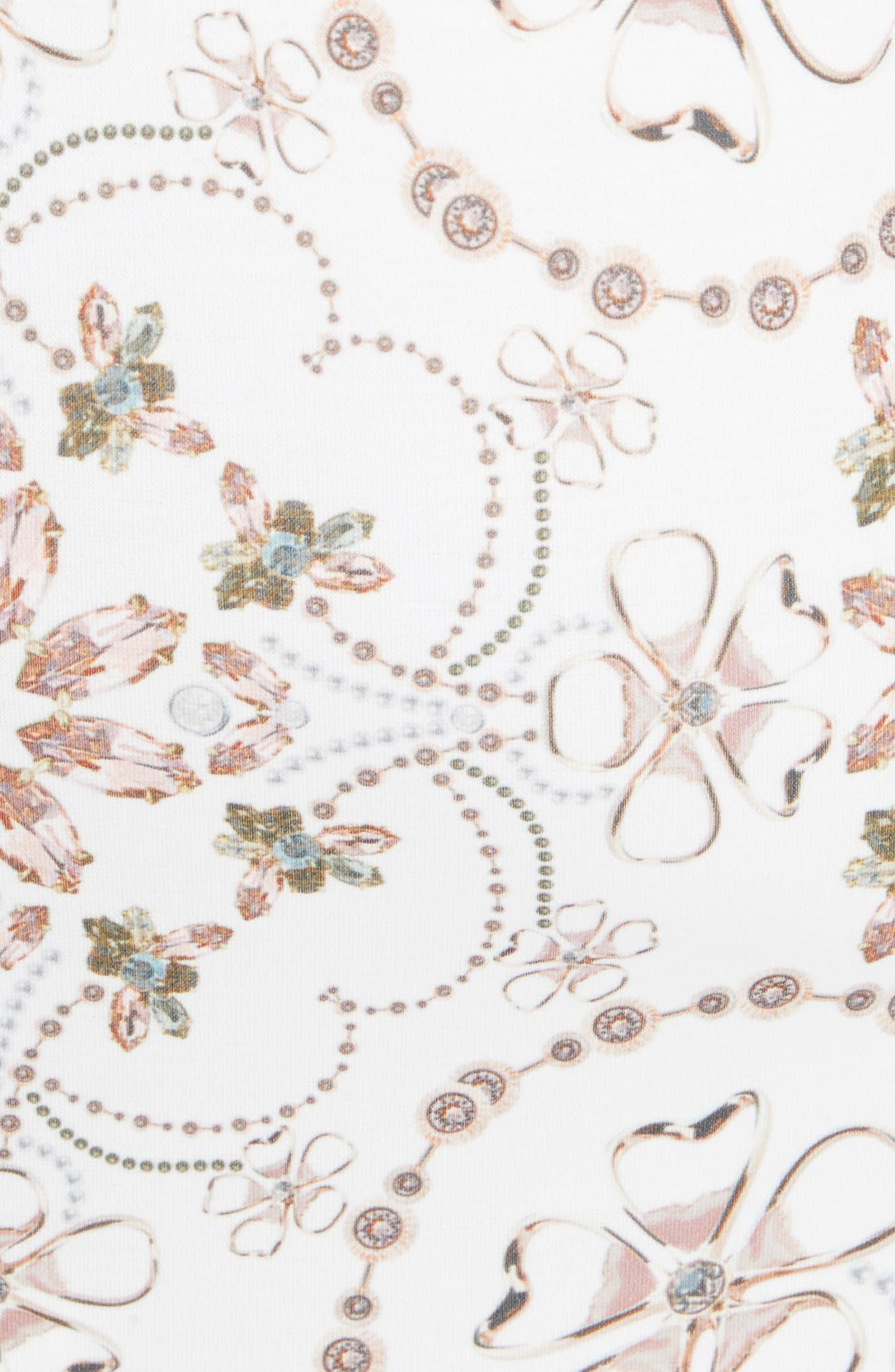 Majestic Contrast Sheath Dress,                             Alternate thumbnail 5, color,                             Ivory