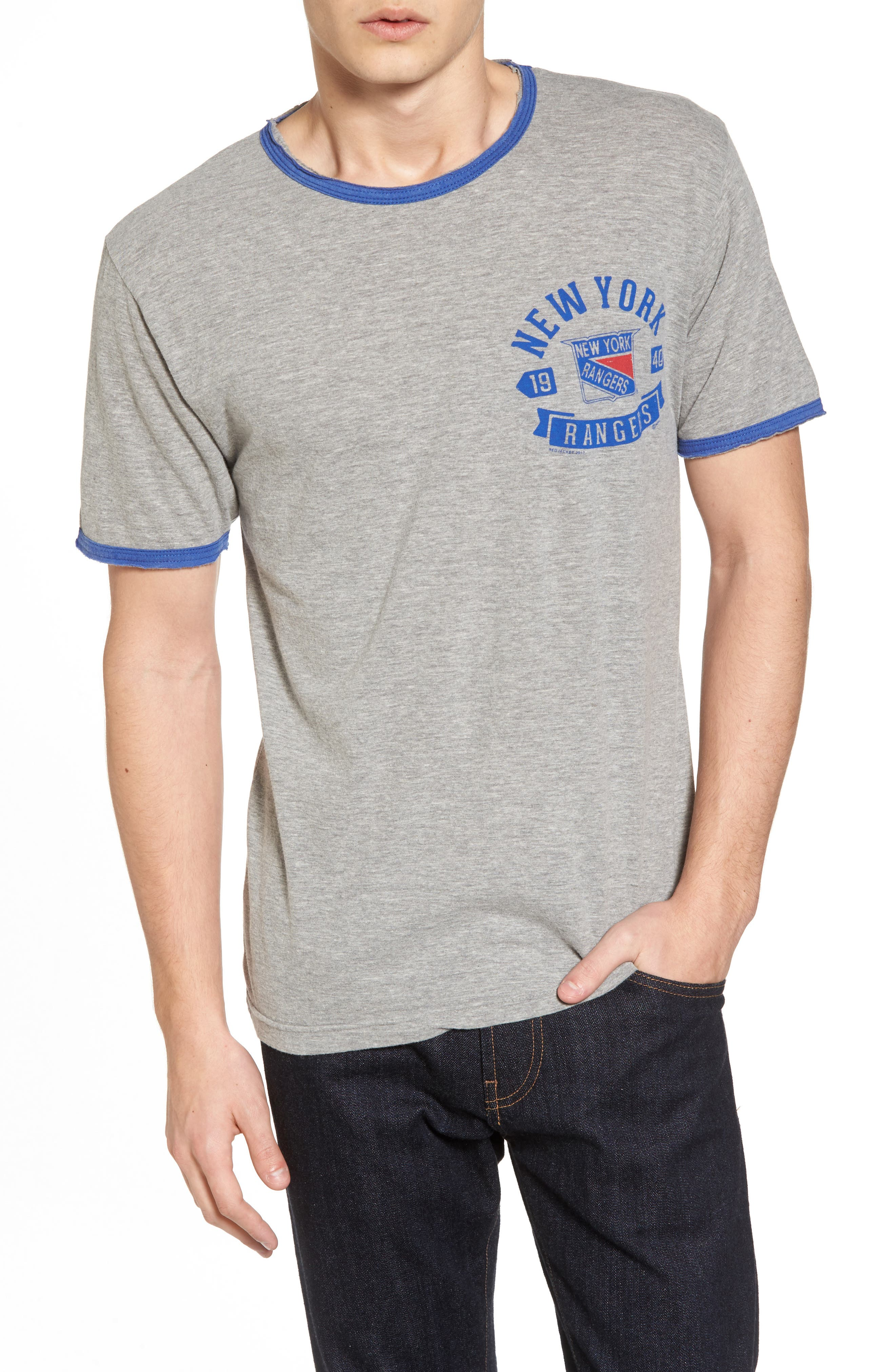 American Needle Portage New York Rangers Ringer T-Shirt