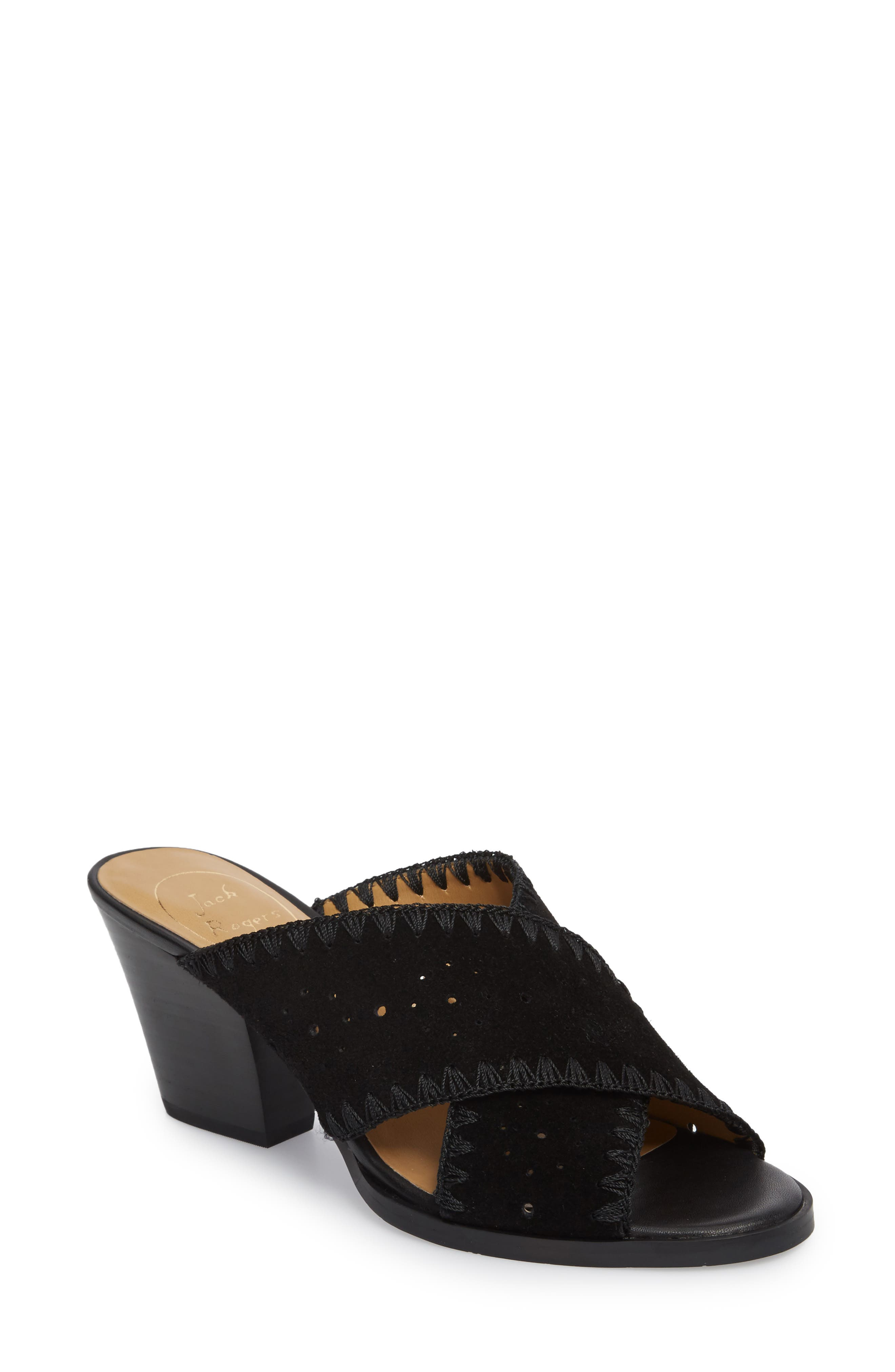 Blakely Sandal,                             Main thumbnail 1, color,                             Black Suede