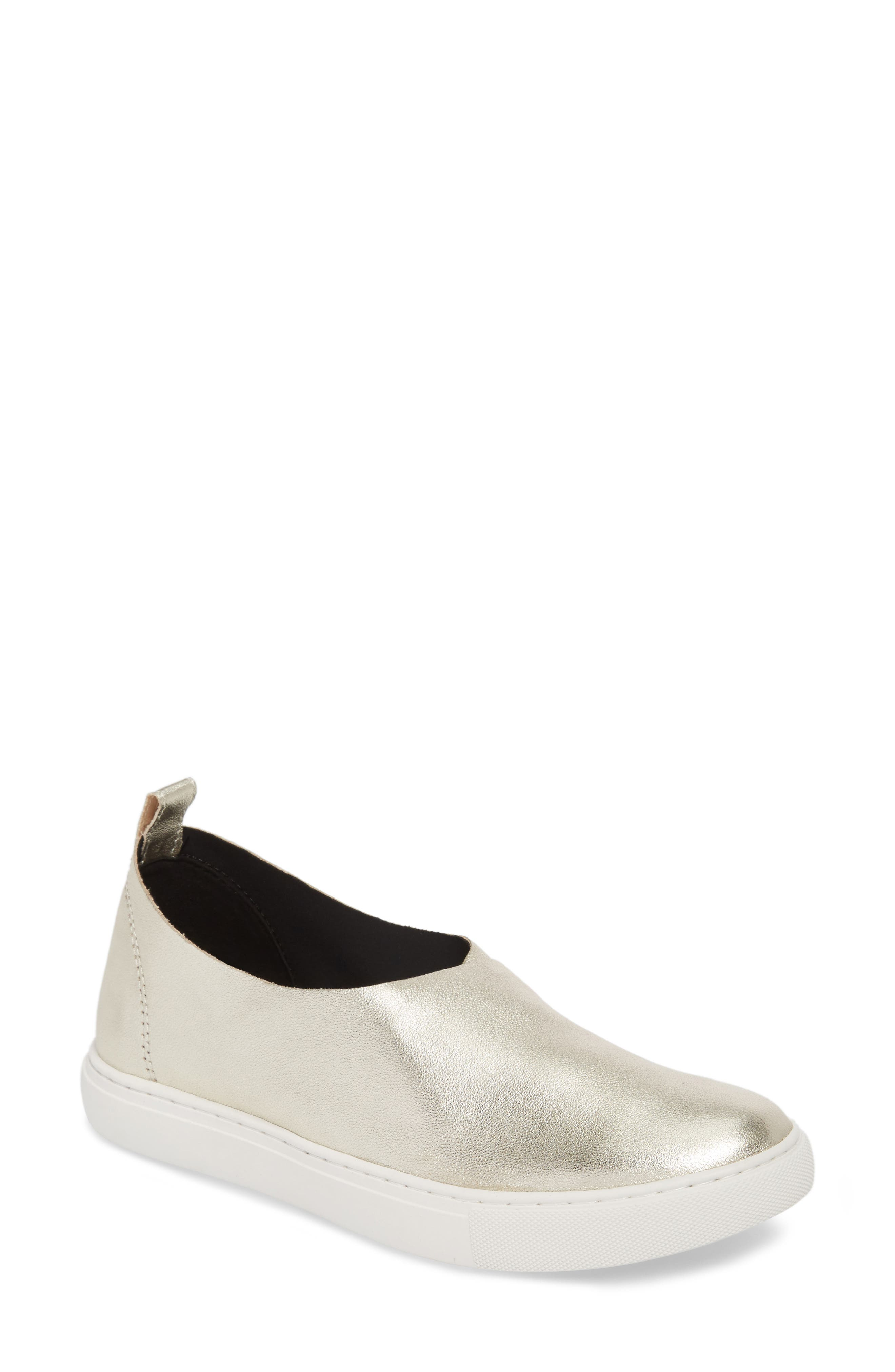 Kathy Slip-On Sneaker,                         Main,                         color, Light Gold Leather