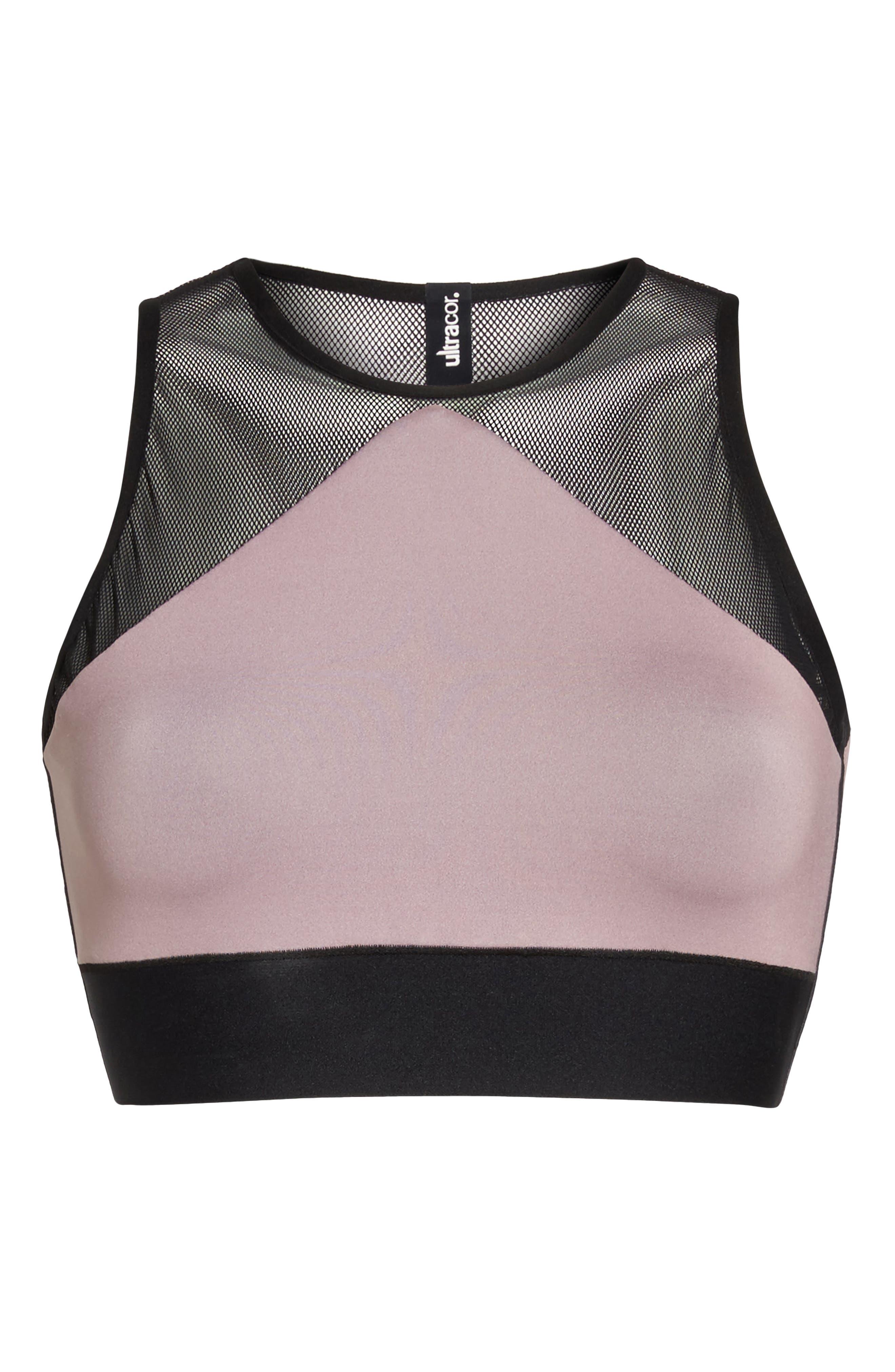 Adrift Sport Mesh Bikini Top,                             Alternate thumbnail 9, color,                             Blush Pink