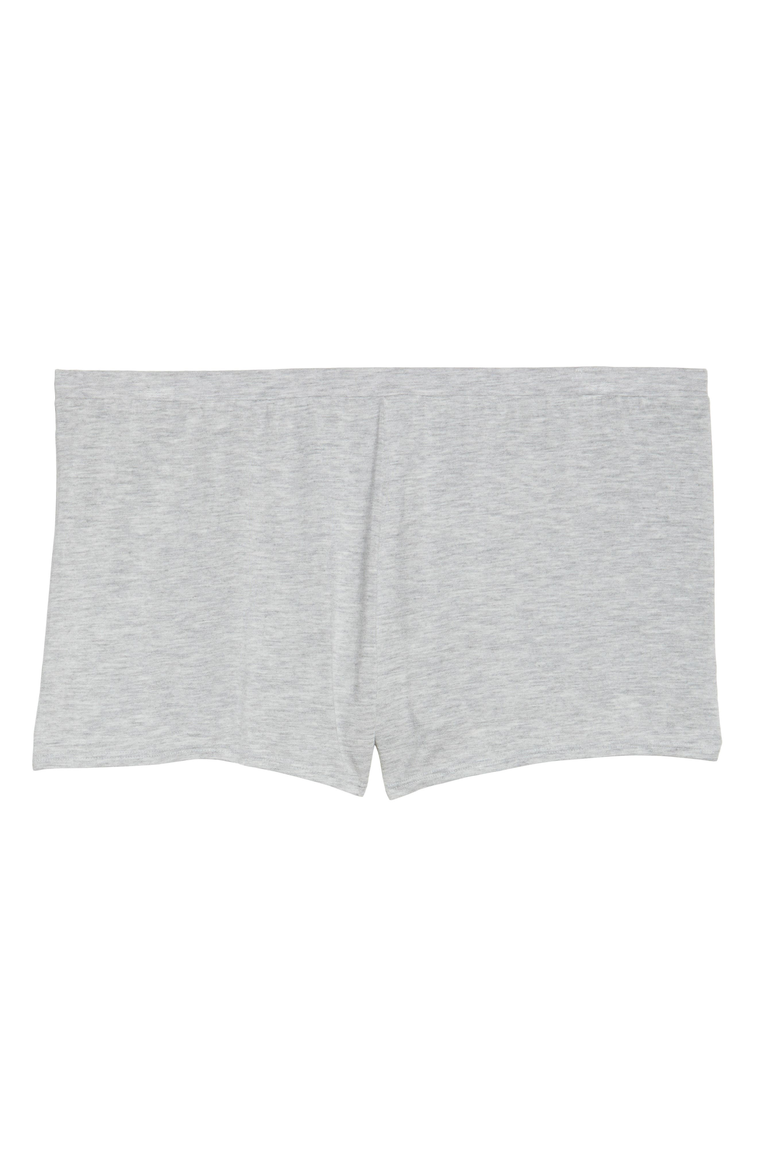 Undressed Pajama Shorts,                             Alternate thumbnail 4, color,                             Silver