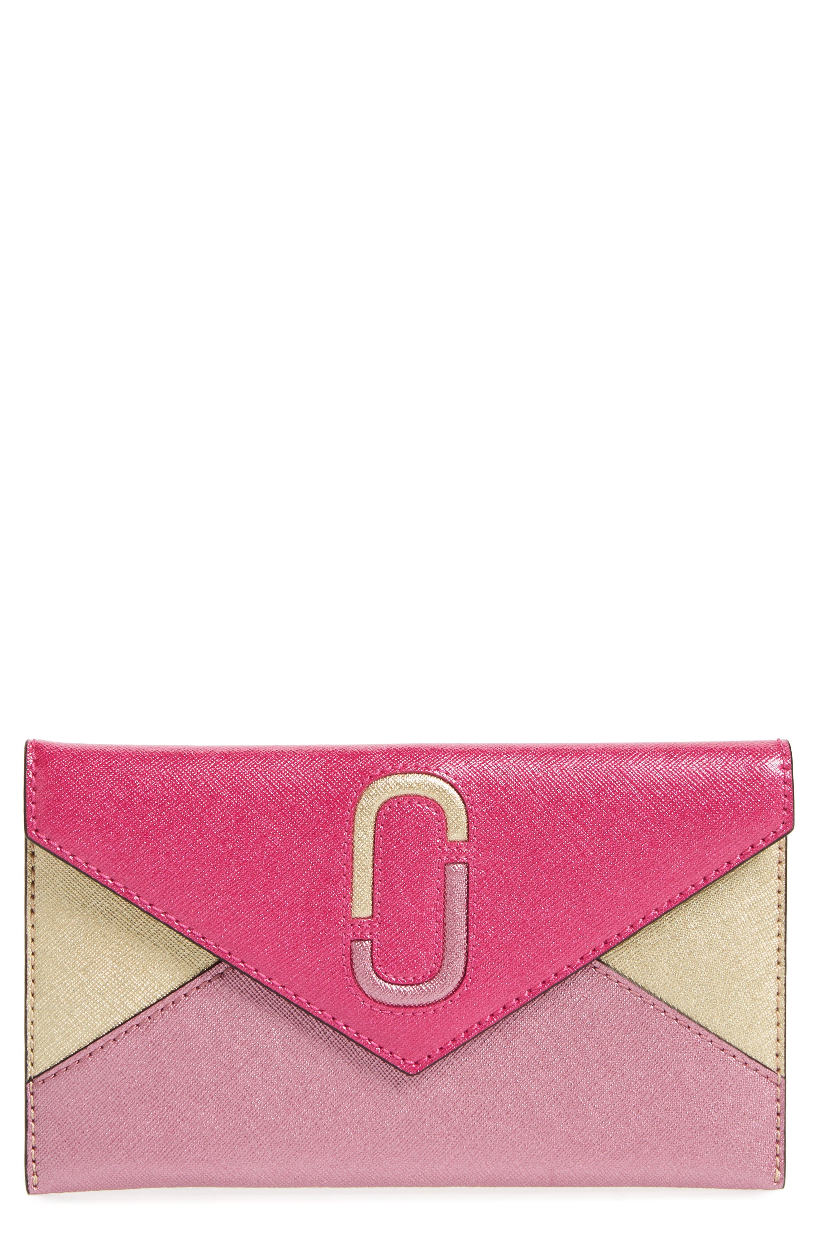Alternate Image 1 Selected - MARC JACOBS Double-J Saffiano Leather Pouch
