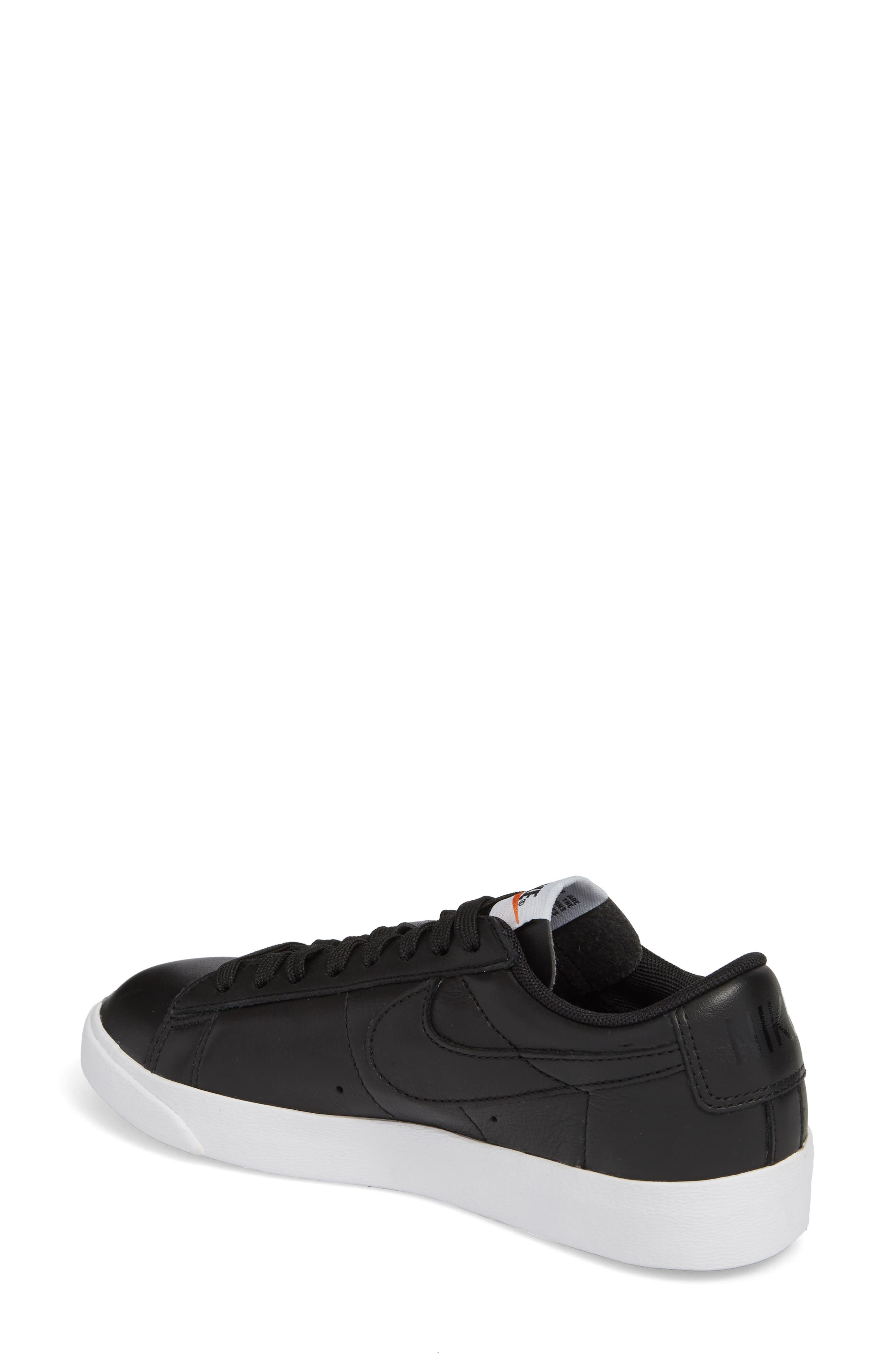 Blazer Low LE Basketball Shoe,                             Alternate thumbnail 2, color,                             Black/ Black/ White