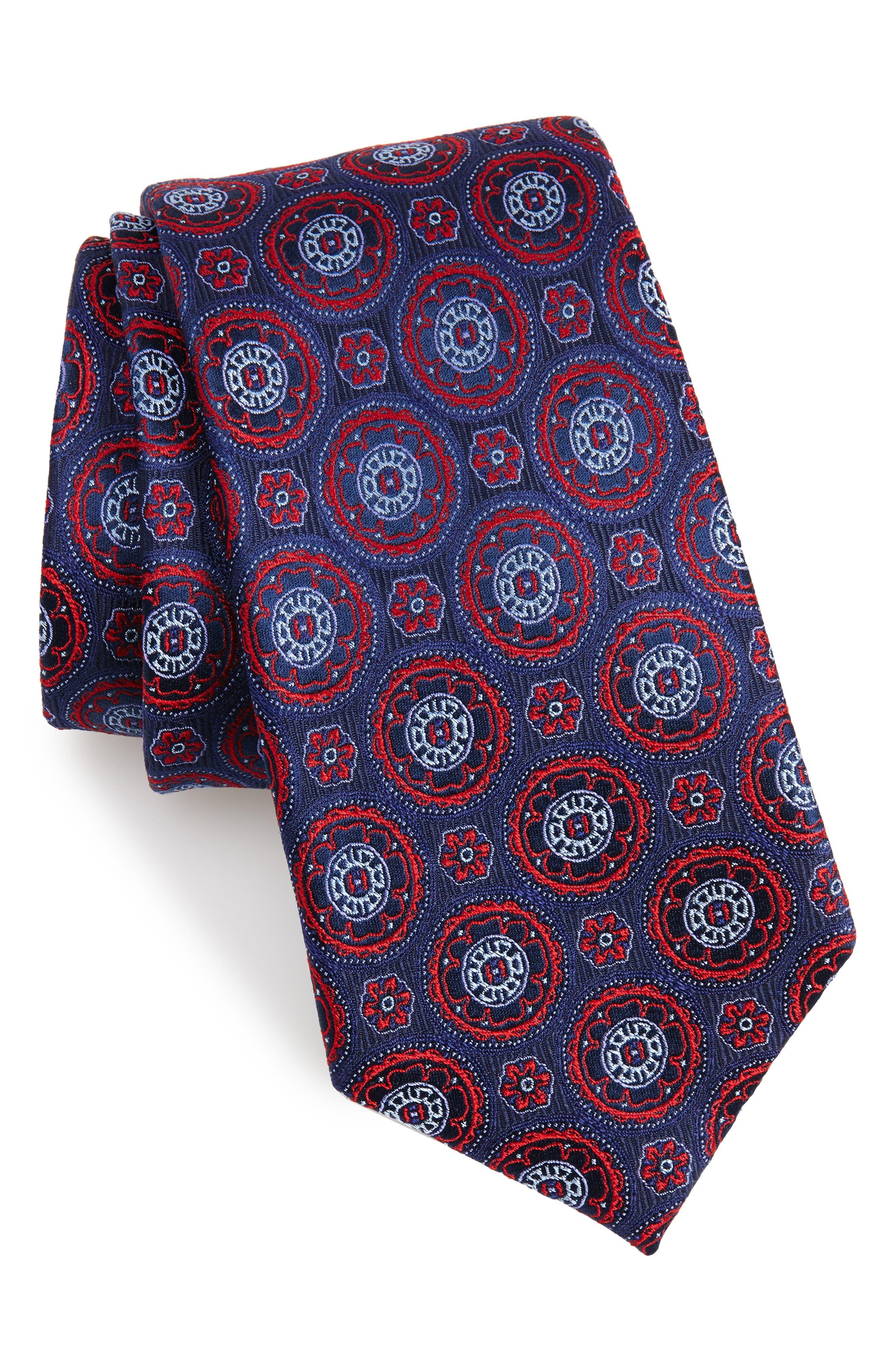 Nordstrom Men's Shop Kensington Medallion Silk Tie (X-Long)