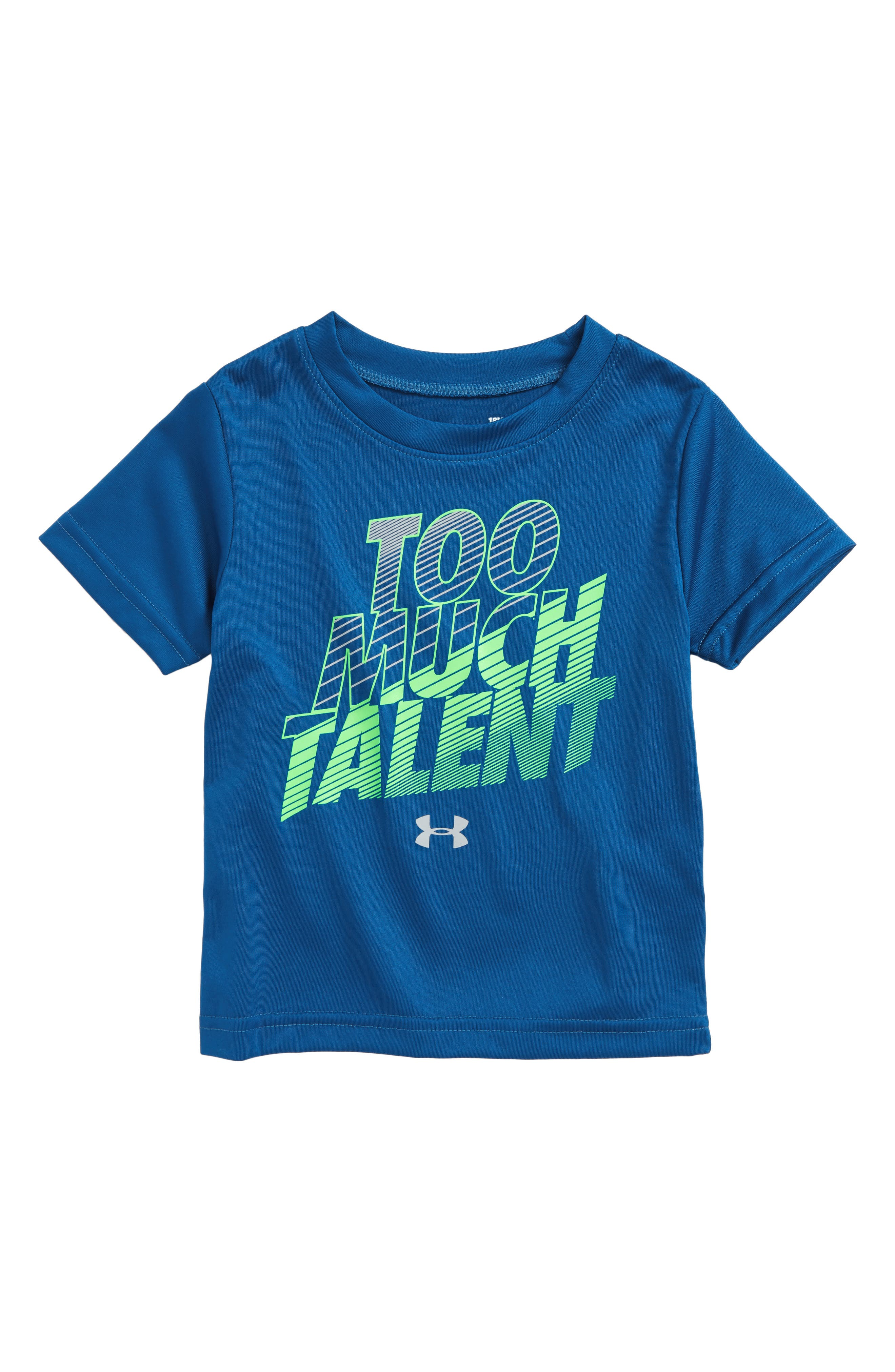 Too Much Talent Graphic T-Shirt,                             Main thumbnail 1, color,                             Moroccan Blue