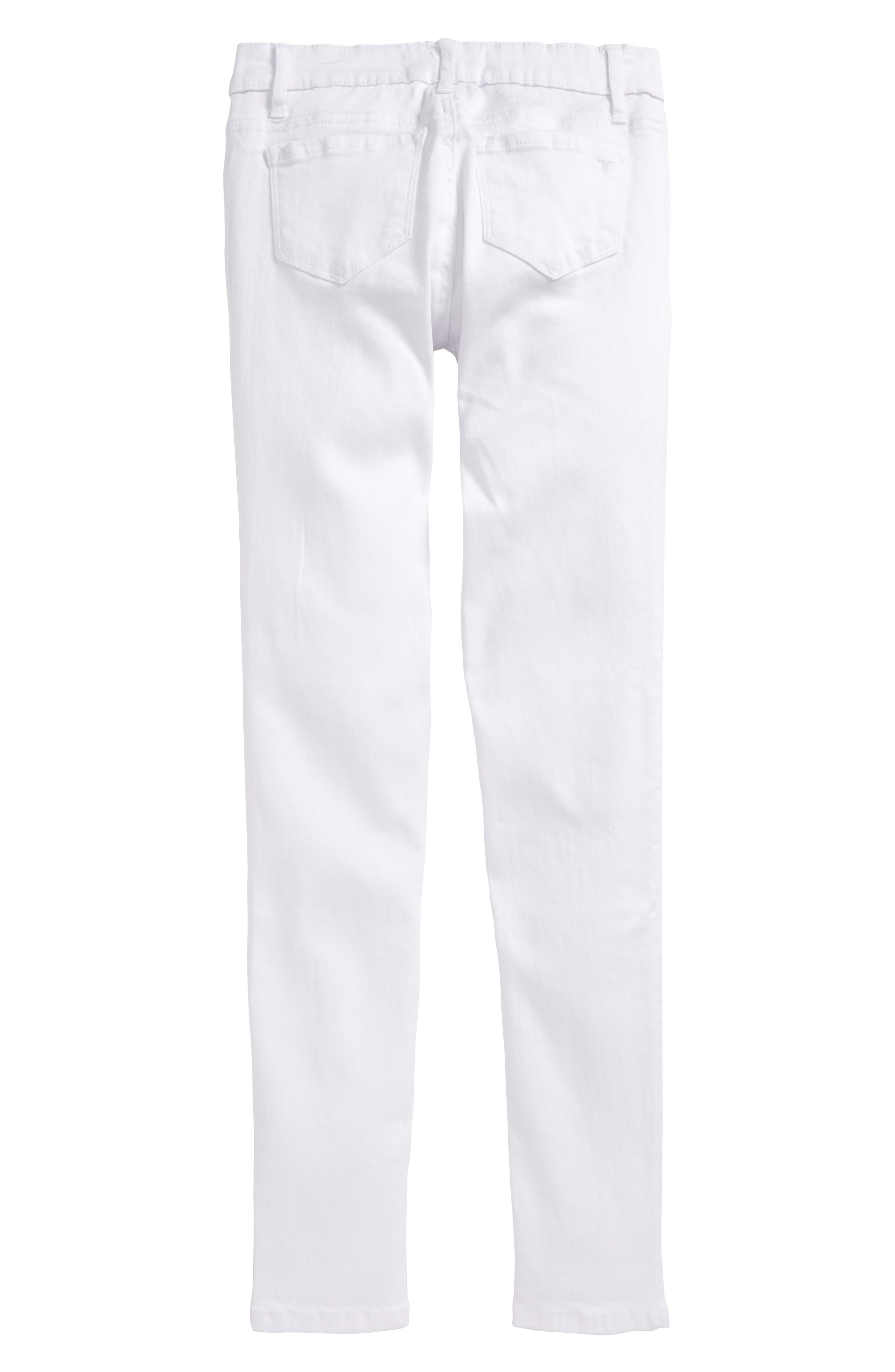 Deconstructed Skinny Jeans,                             Alternate thumbnail 2, color,                             White