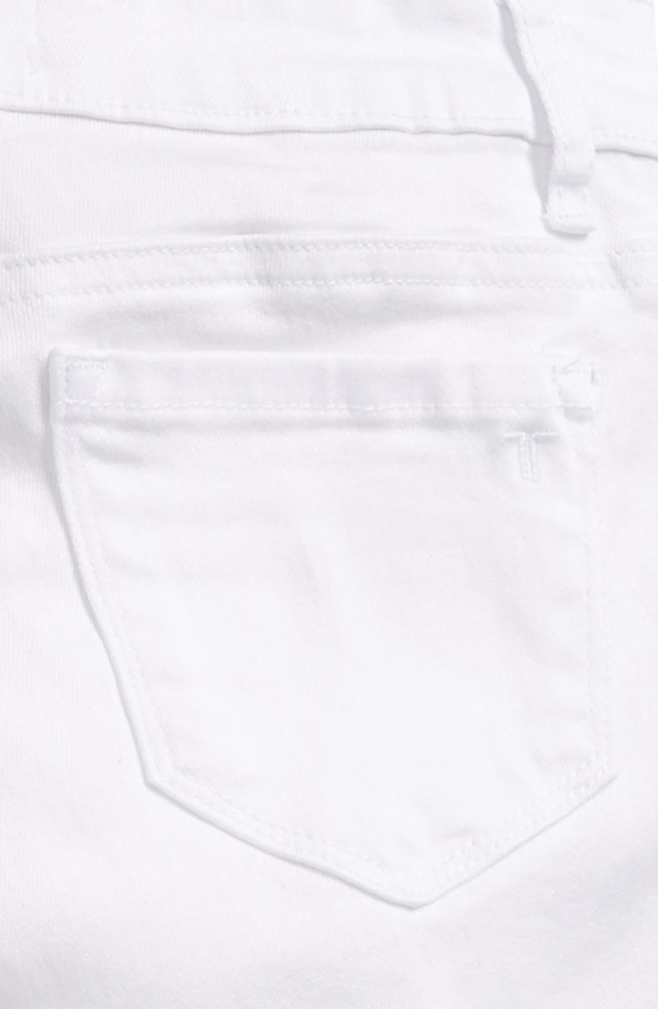 Frayed Hem Bermuda Shorts,                             Alternate thumbnail 2, color,                             White