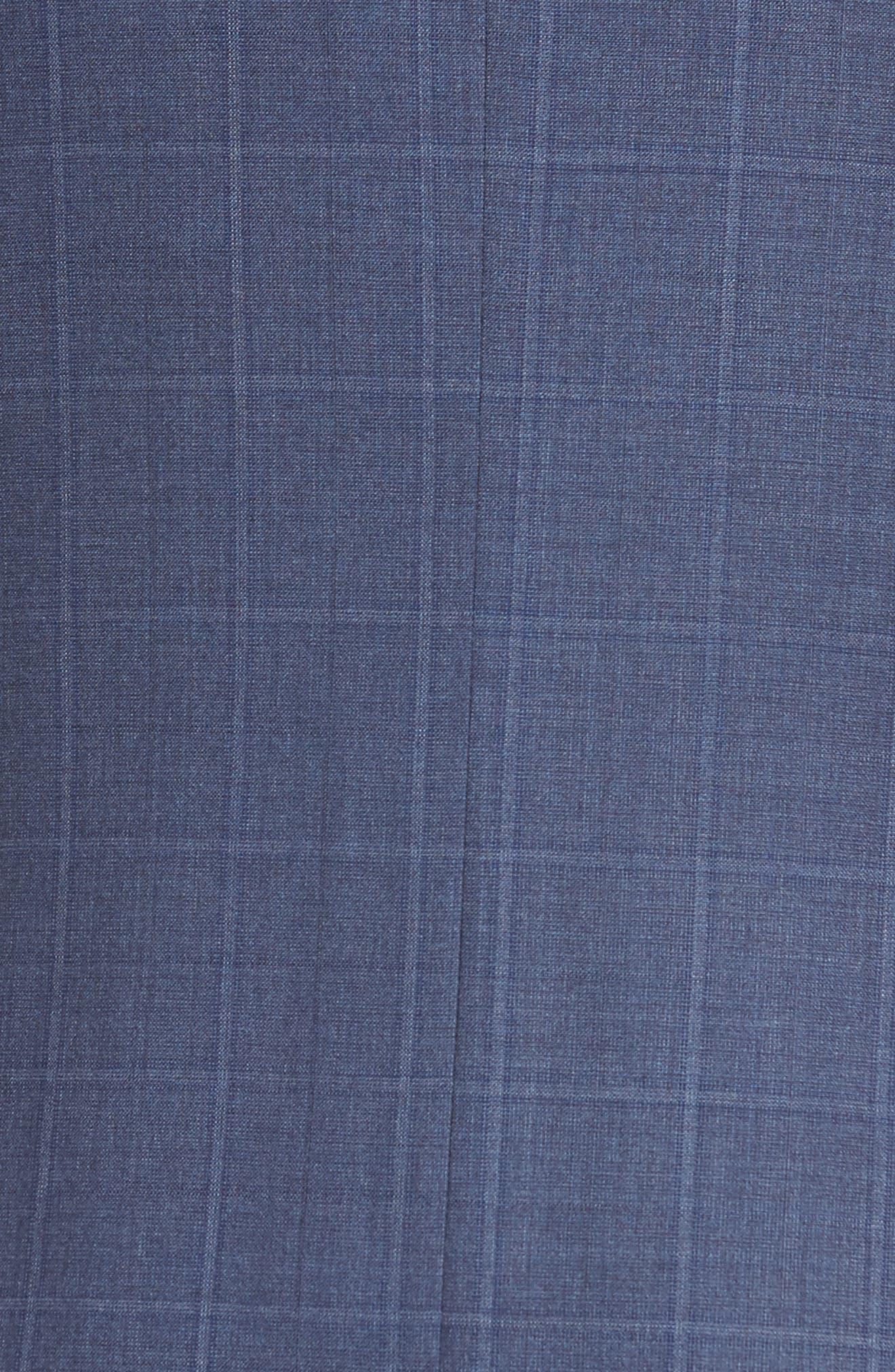 Jay Trim Fit Windowpane Wool Suit,                             Alternate thumbnail 7, color,                             Med Blue