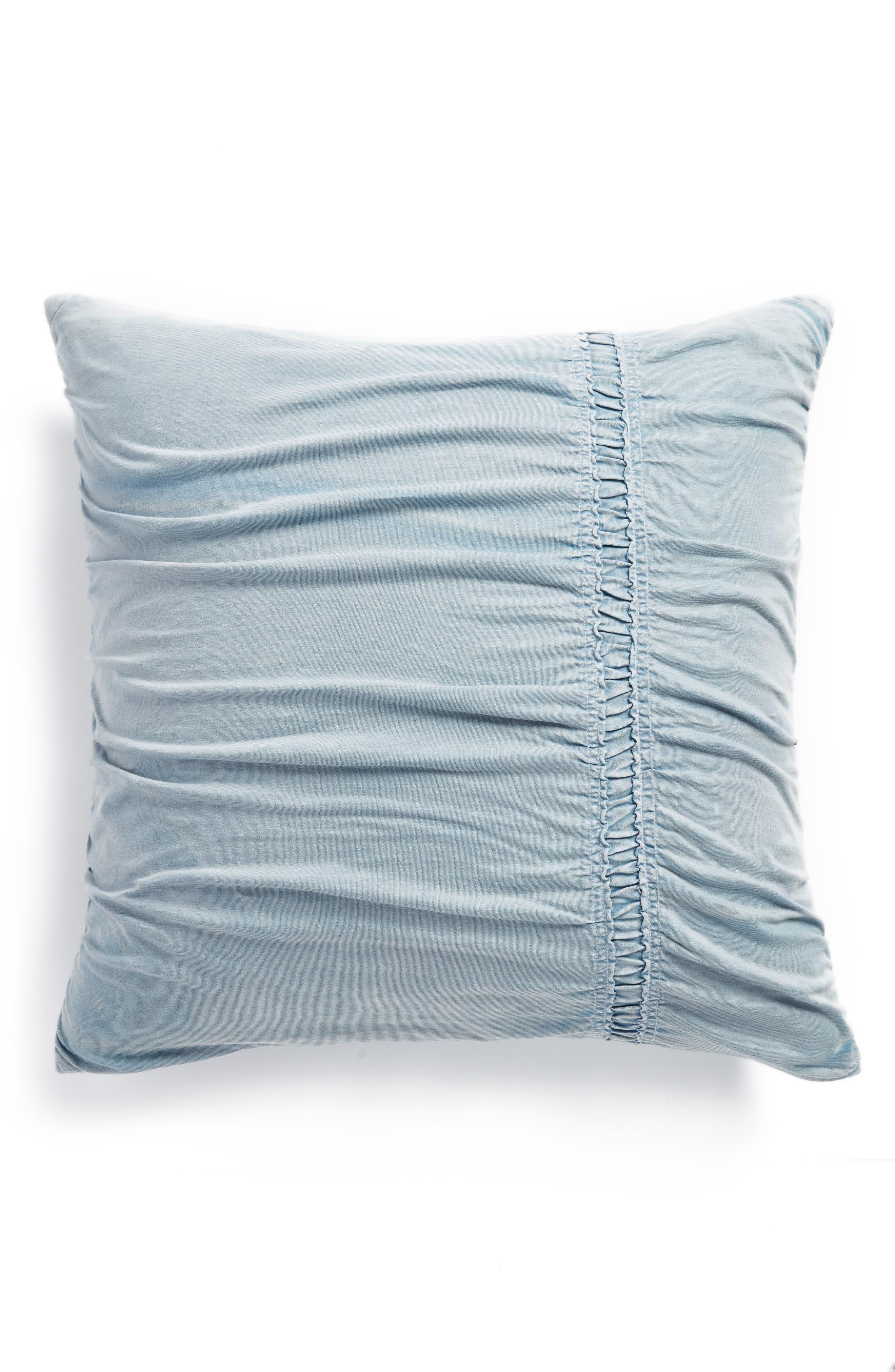Stonewash Jersey Accent Pillow,                             Main thumbnail 1, color,                             Blue Ashley