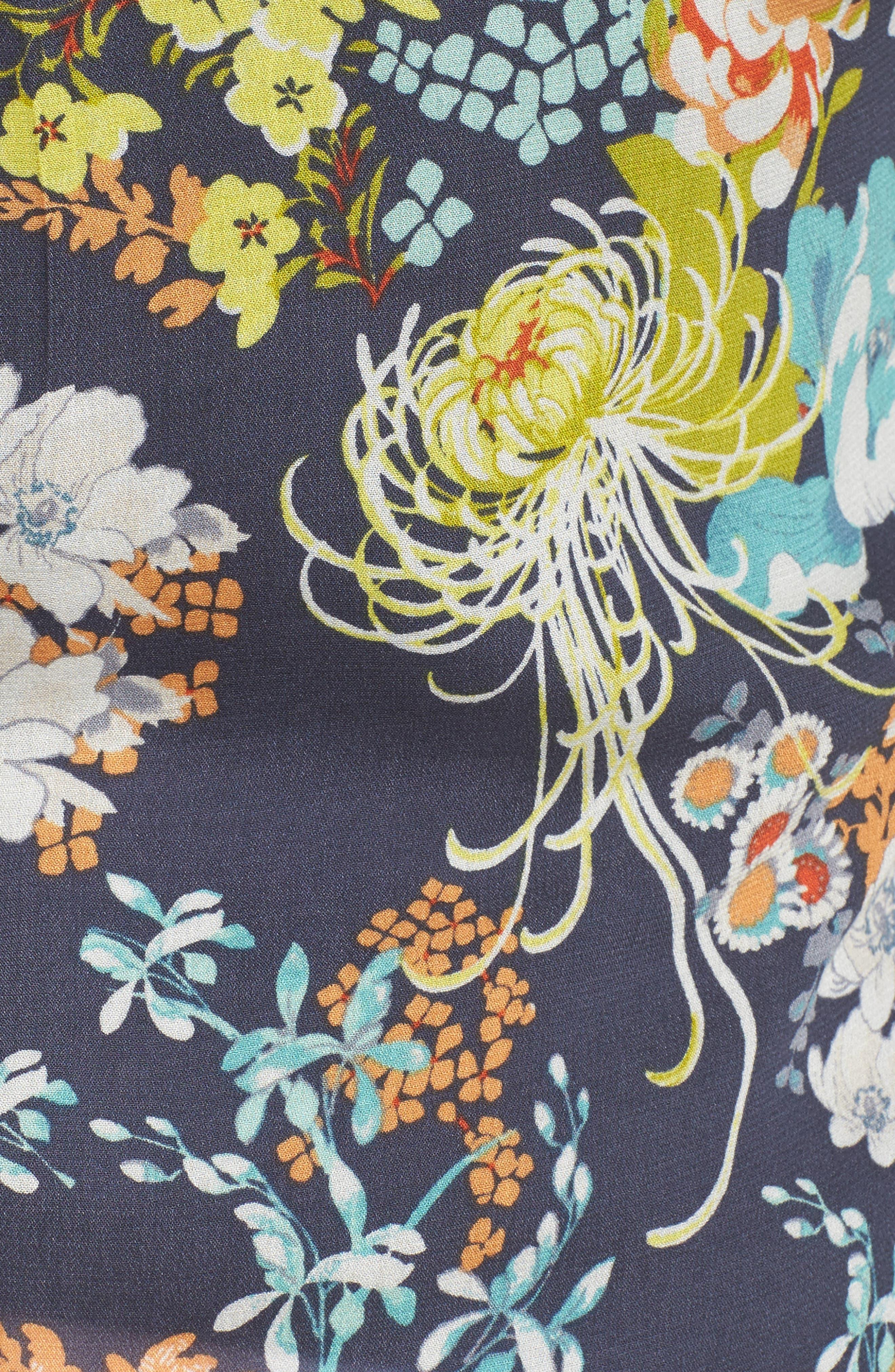 Floral Top,                             Alternate thumbnail 5, color,                             C950n Navy