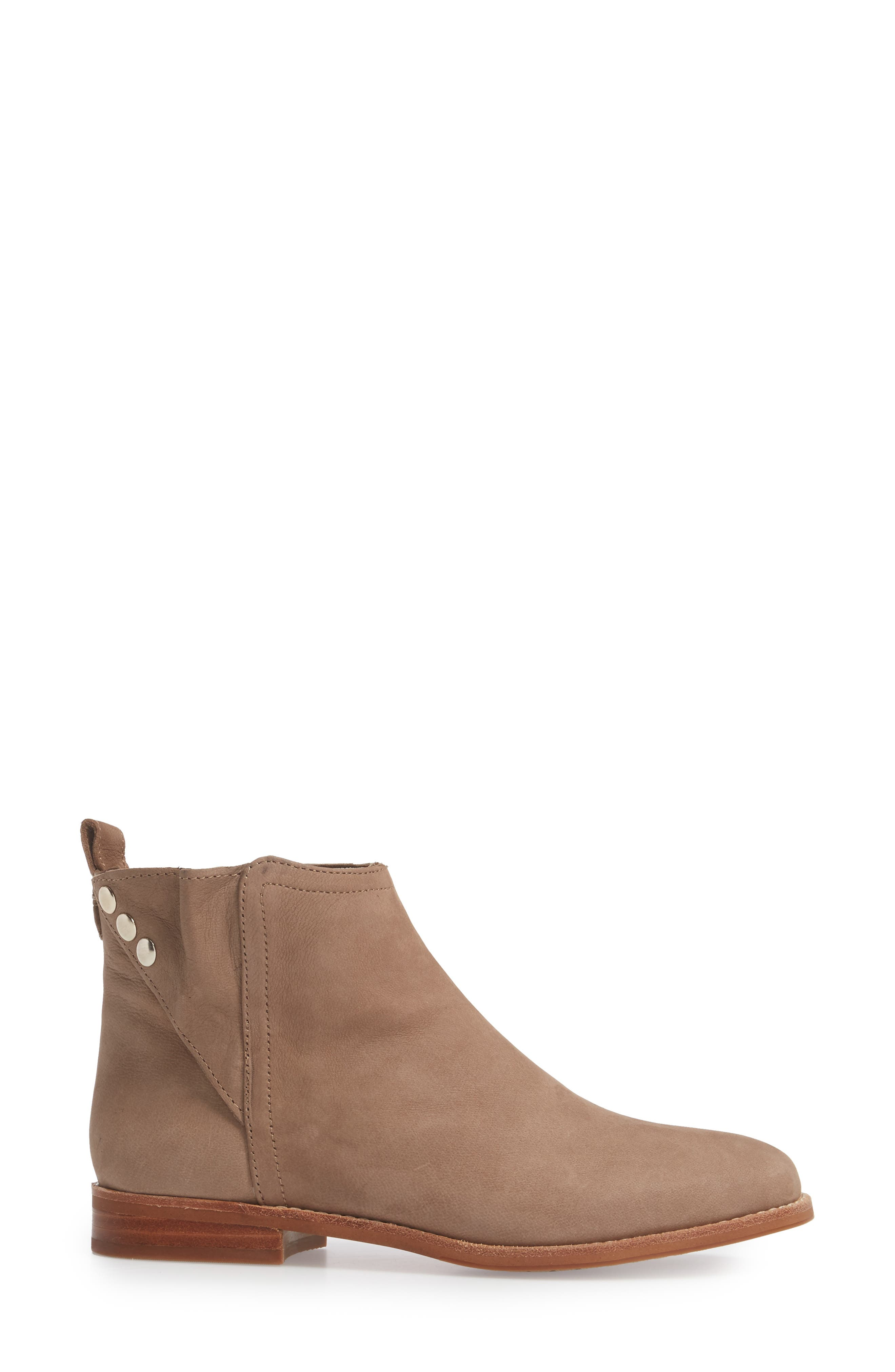Barbora Gusseted Bootie,                             Alternate thumbnail 3, color,                             Taupe Suede