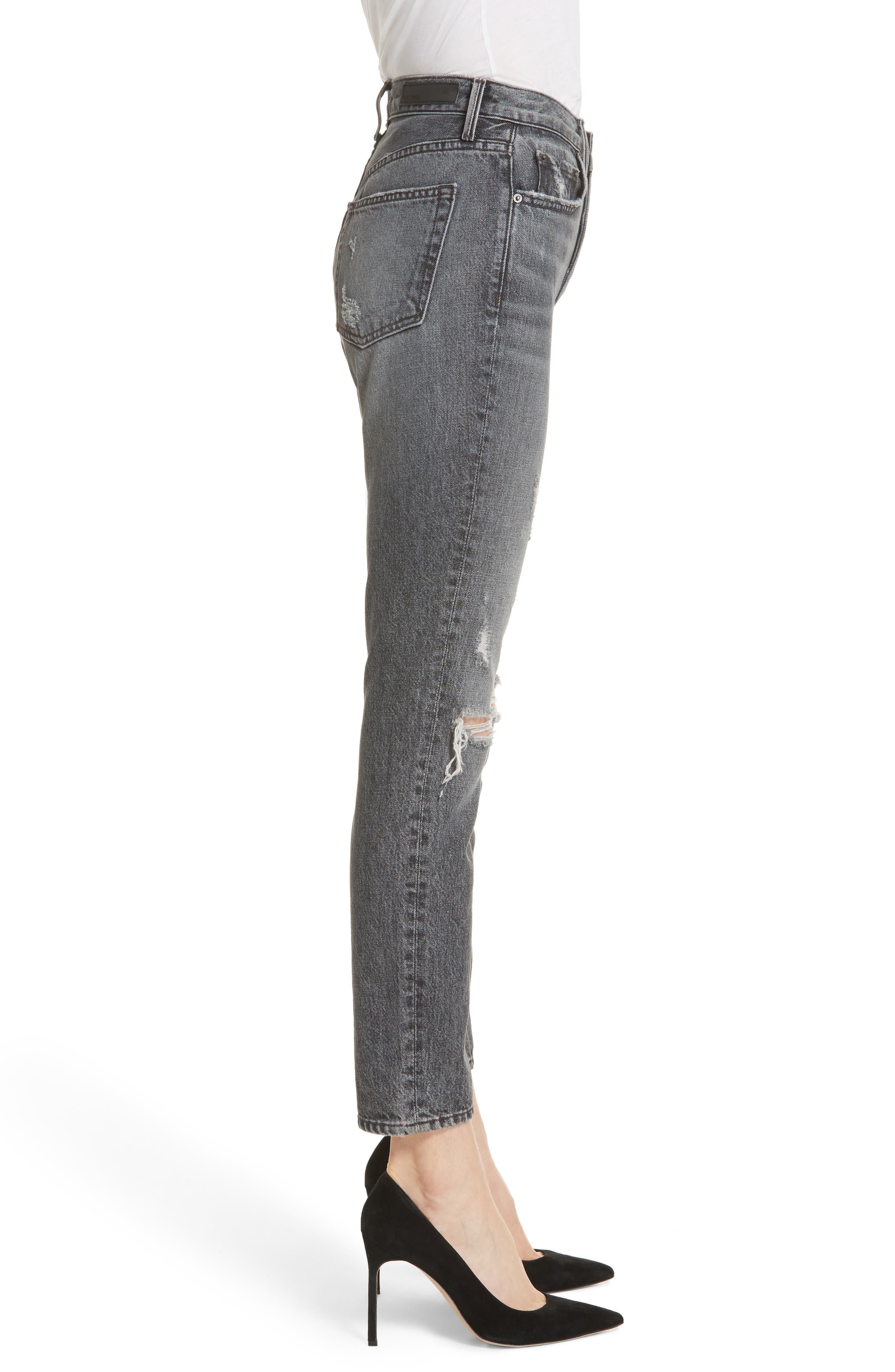 Karolina High Waist Skinny Jeans,                             Alternate thumbnail 3, color,                             Flint
