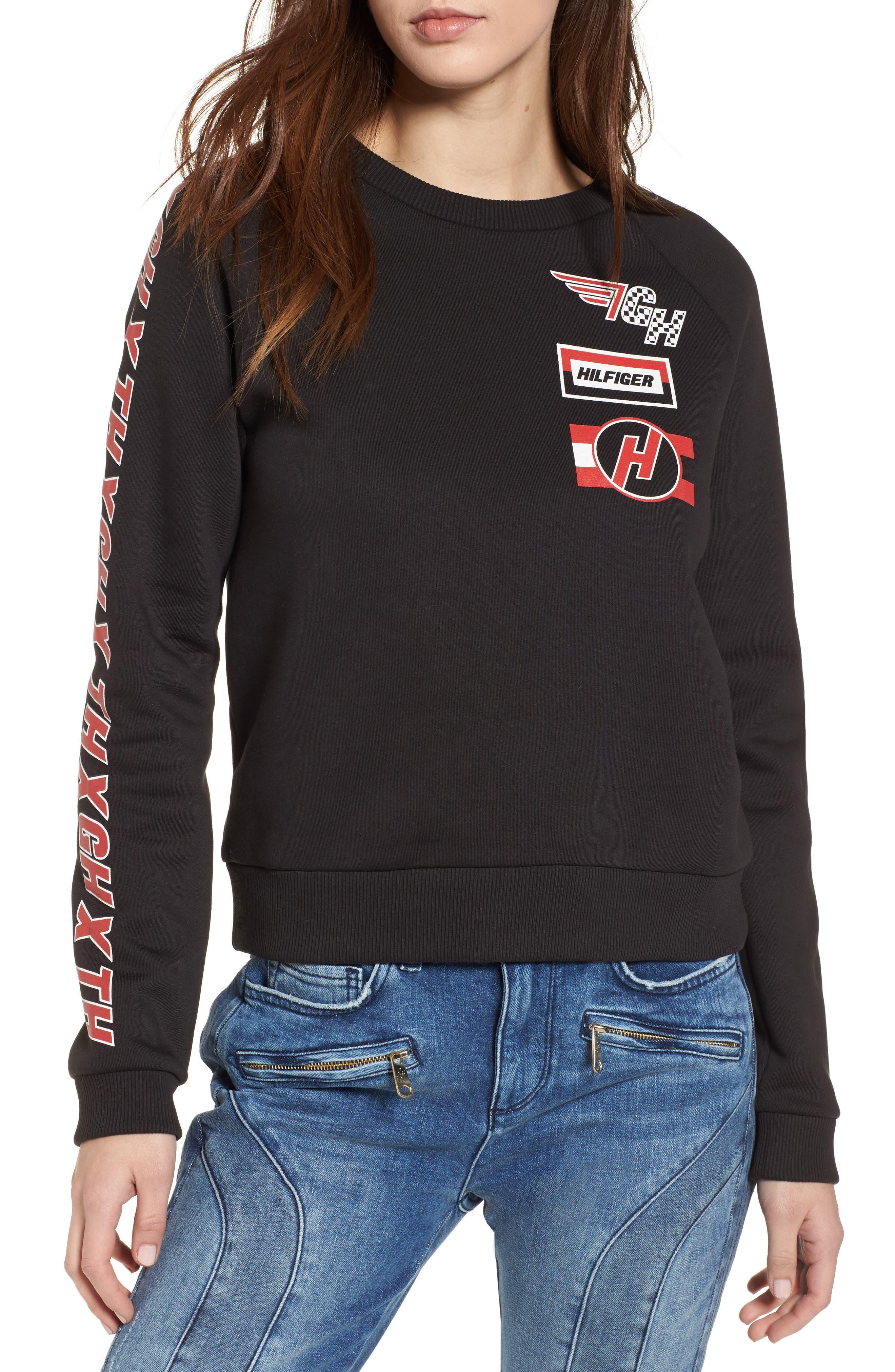 x Gigi Hadid Team Sweatshirt,                         Main,                         color, Black Beauty