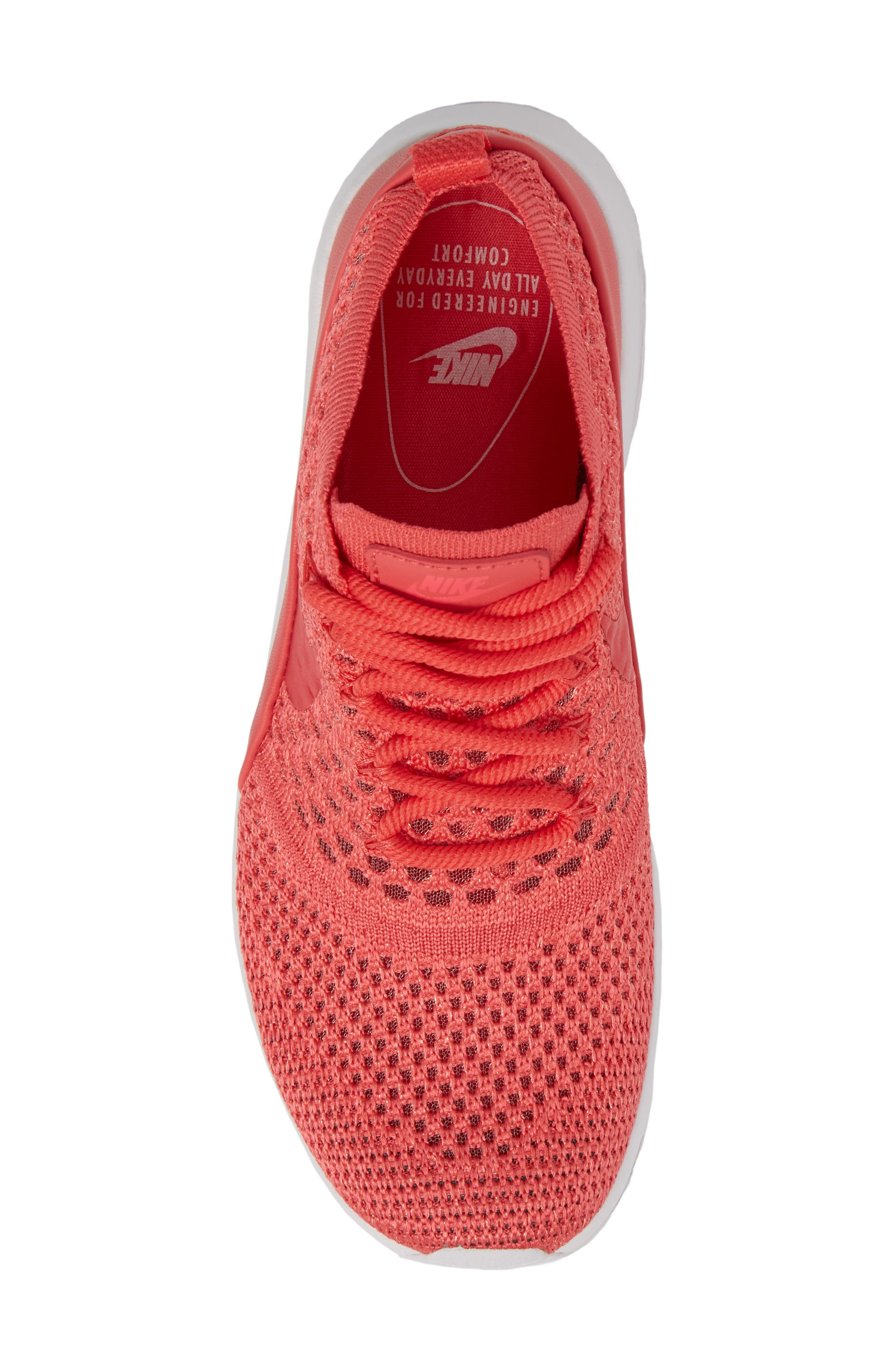 Air Max Thea Ultra Flyknit Sneaker,                             Alternate thumbnail 5, color,                             Geranium/ Geranium