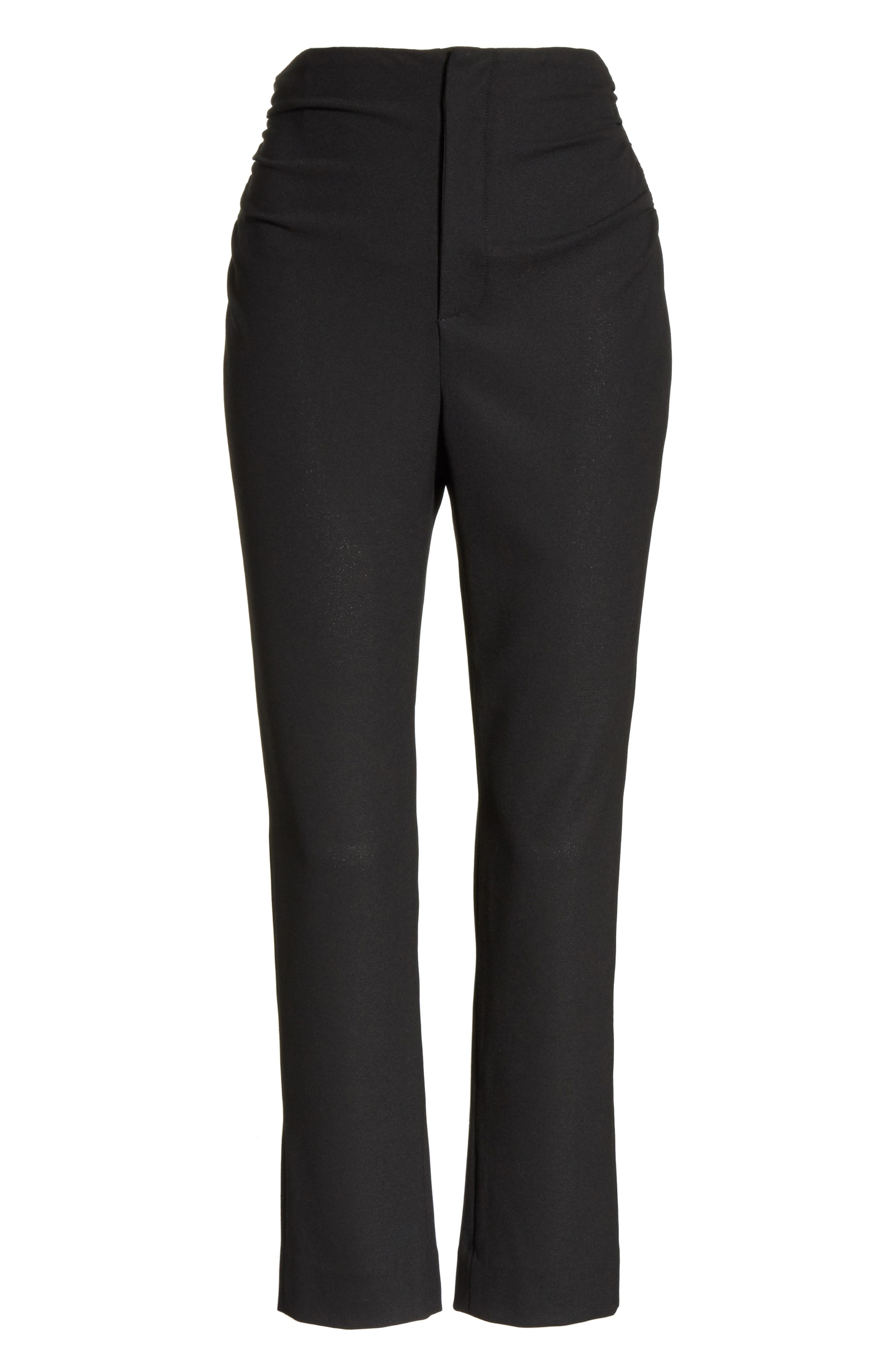 Le Corsaire Slim Crop Pants,                             Alternate thumbnail 6, color,                             Black