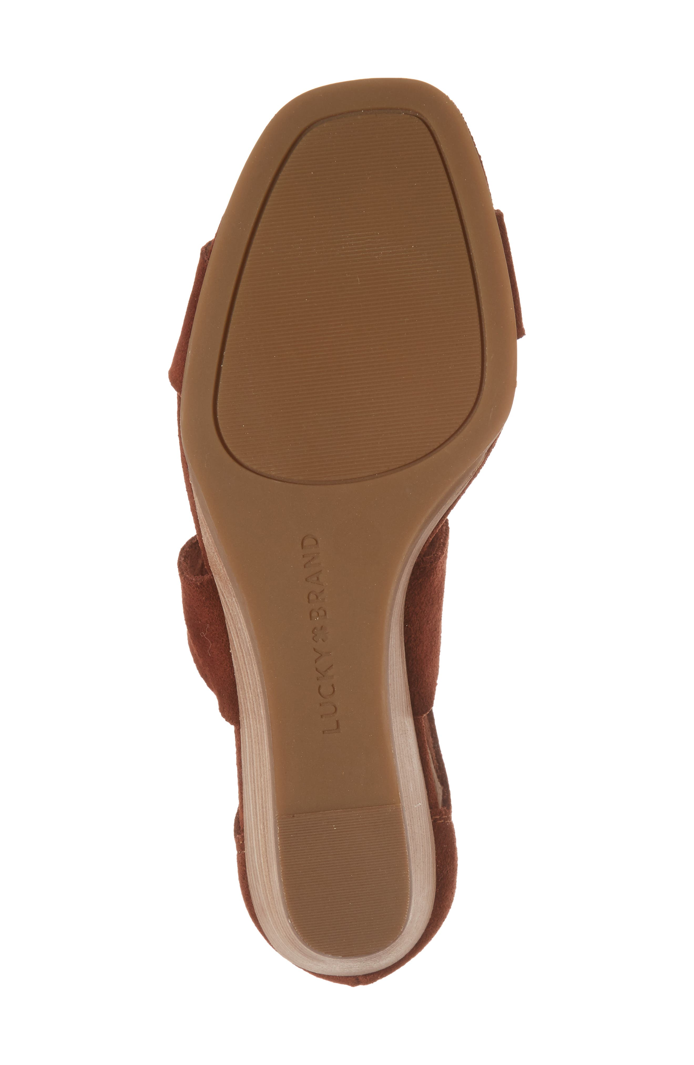 Tammanee Wedge Sandal,                             Alternate thumbnail 6, color,                             Rye Suede