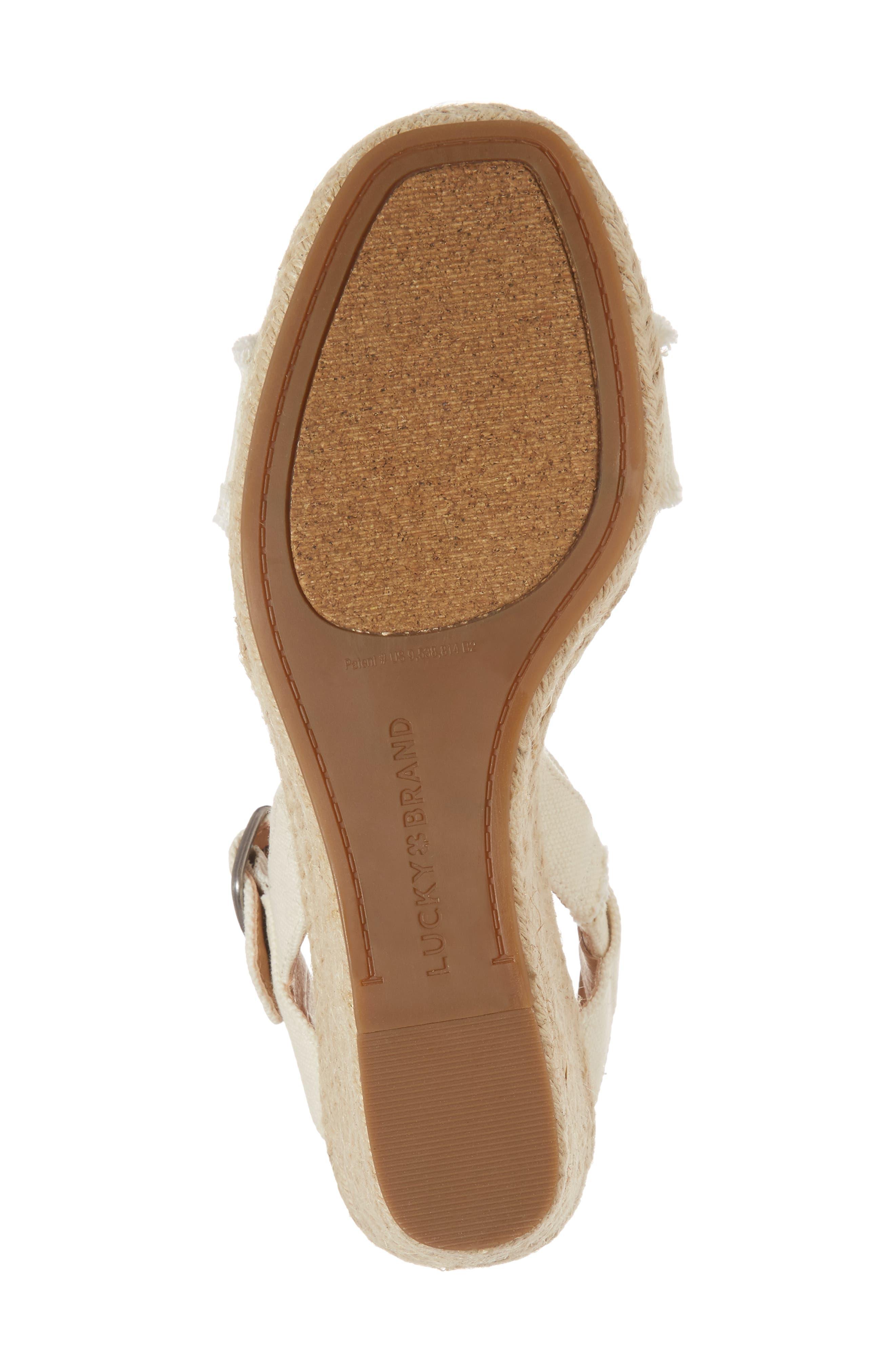 Alternate Image 6  - Lucky Brand Marceline Squared Toe Wedge Sandal (Women)