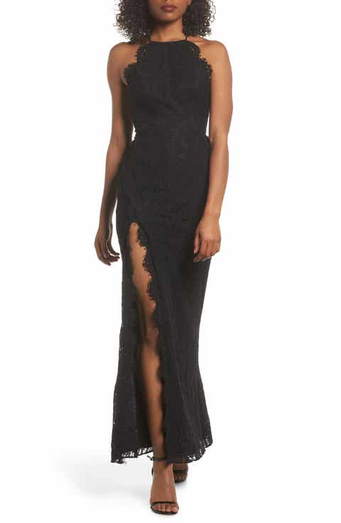 Fame and Partners Dragon Eyes Lace Column Gown