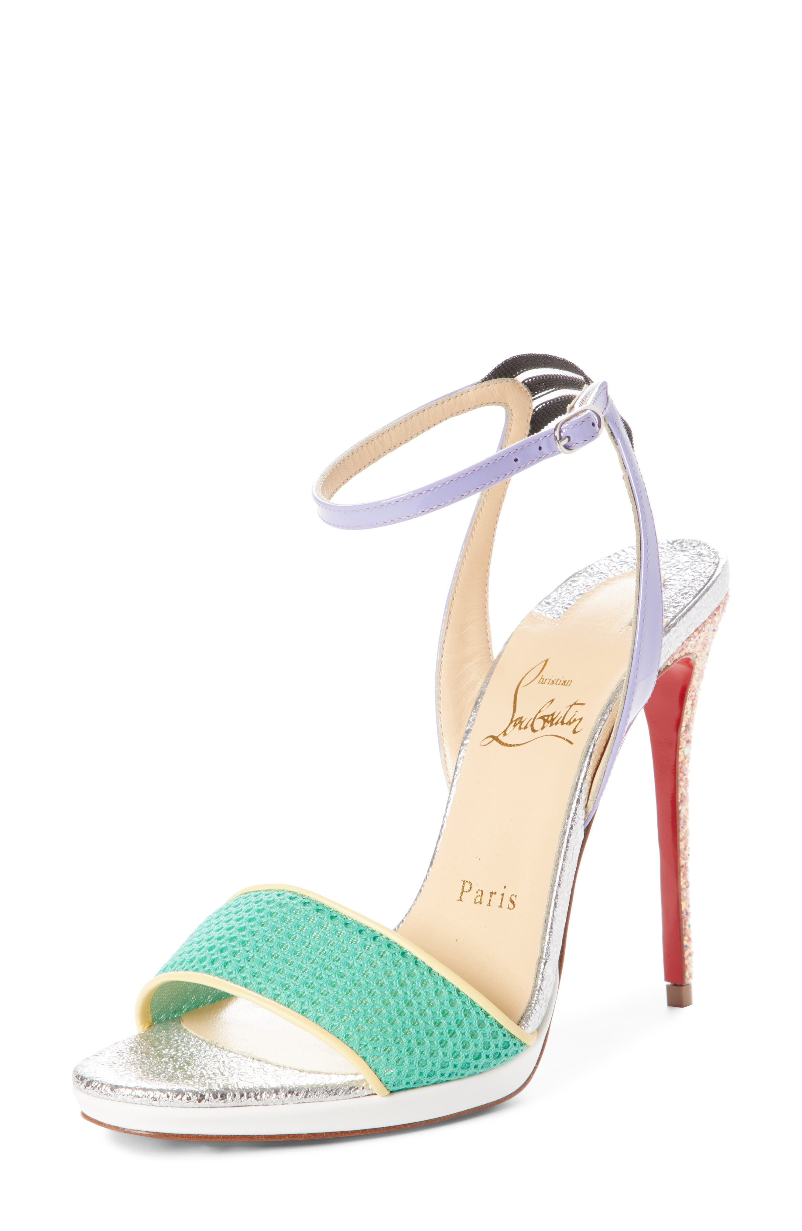 Alternate Image 1 Selected - Christian Louboutin Discoport Textured Sandal (Women)