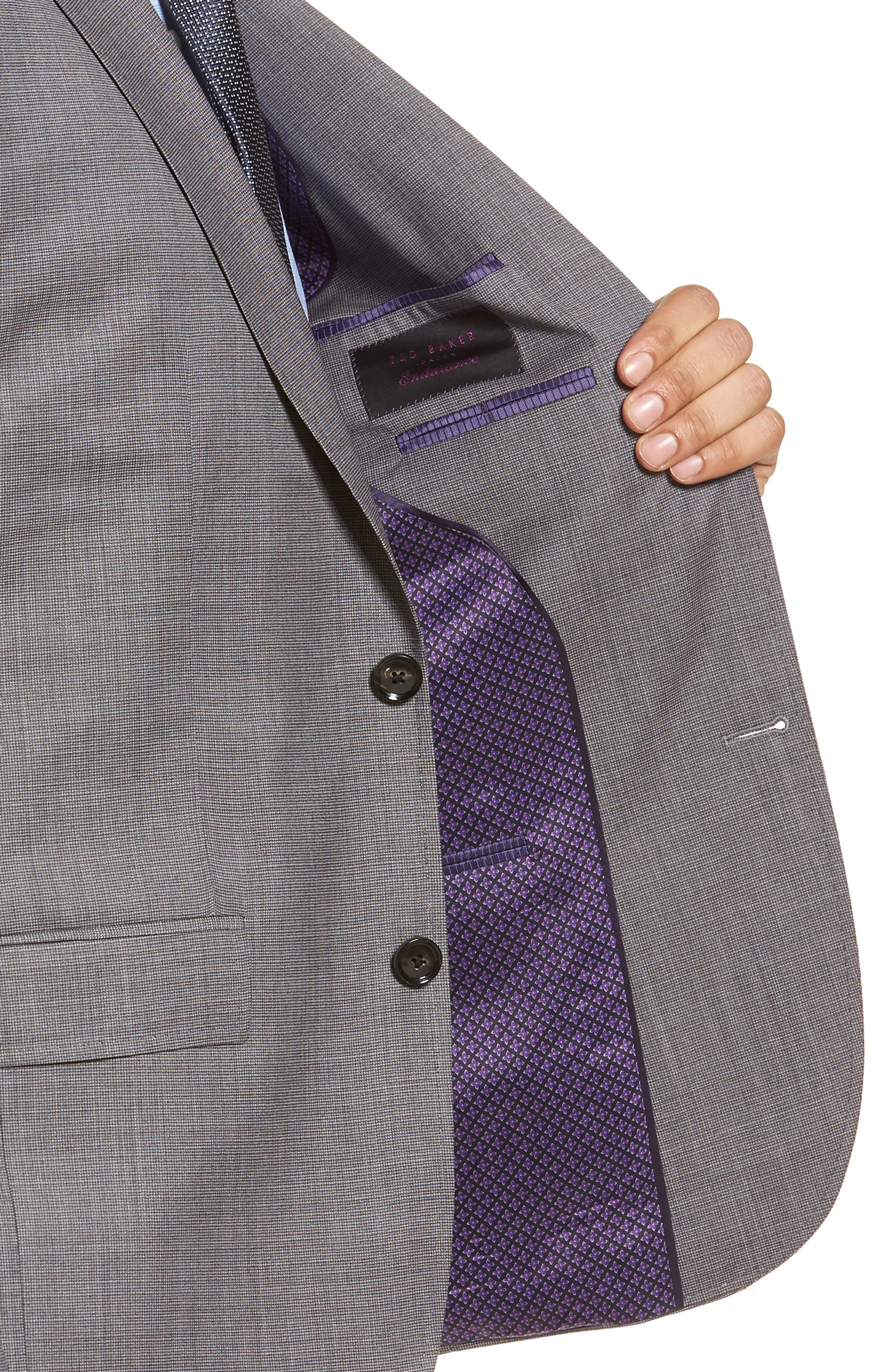 Roger Extra Slim Fit Solid Wool Suit,                             Alternate thumbnail 4, color,                             Taupe