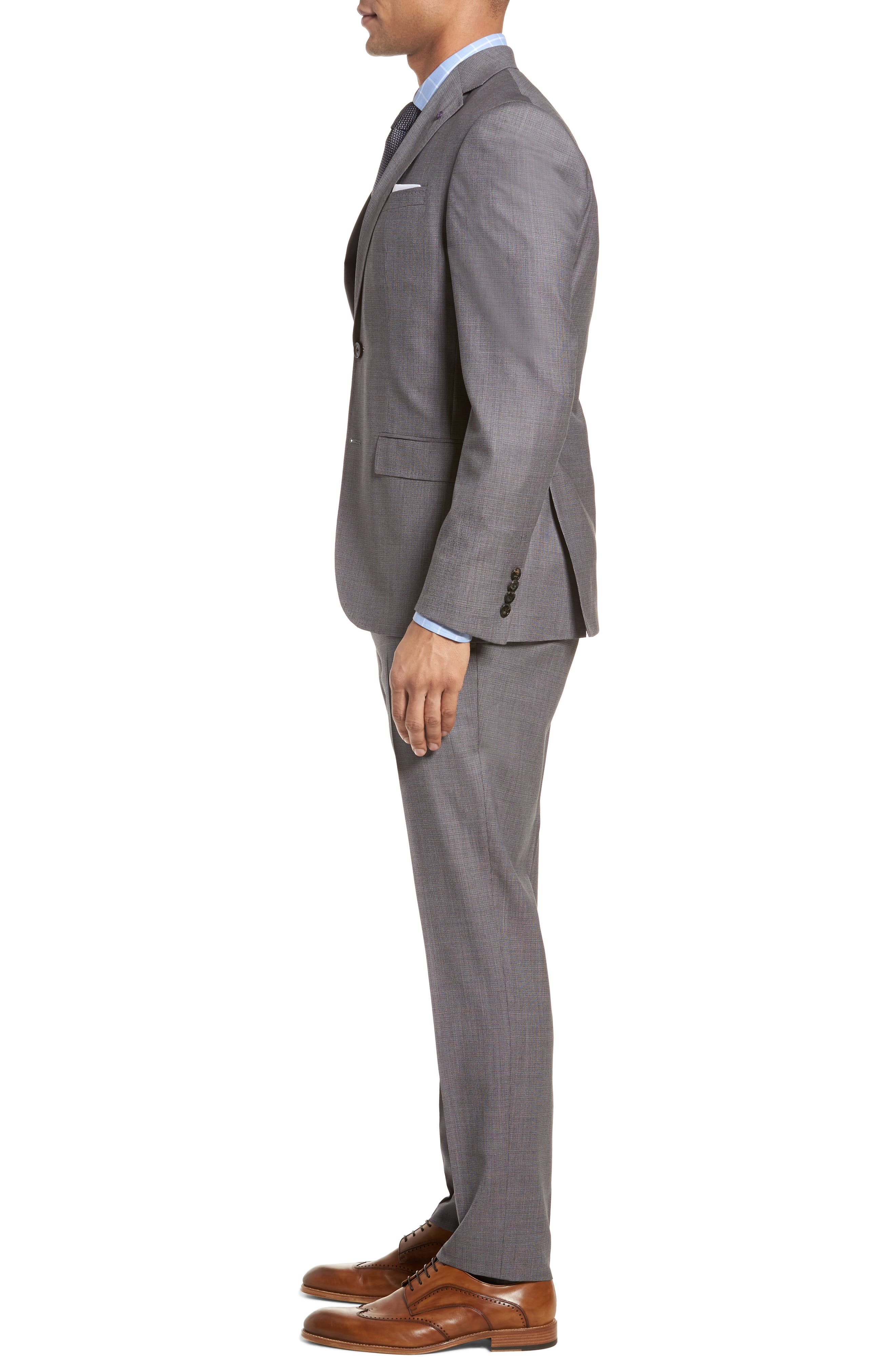 Roger Extra Slim Fit Solid Wool Suit,                             Alternate thumbnail 3, color,                             Taupe