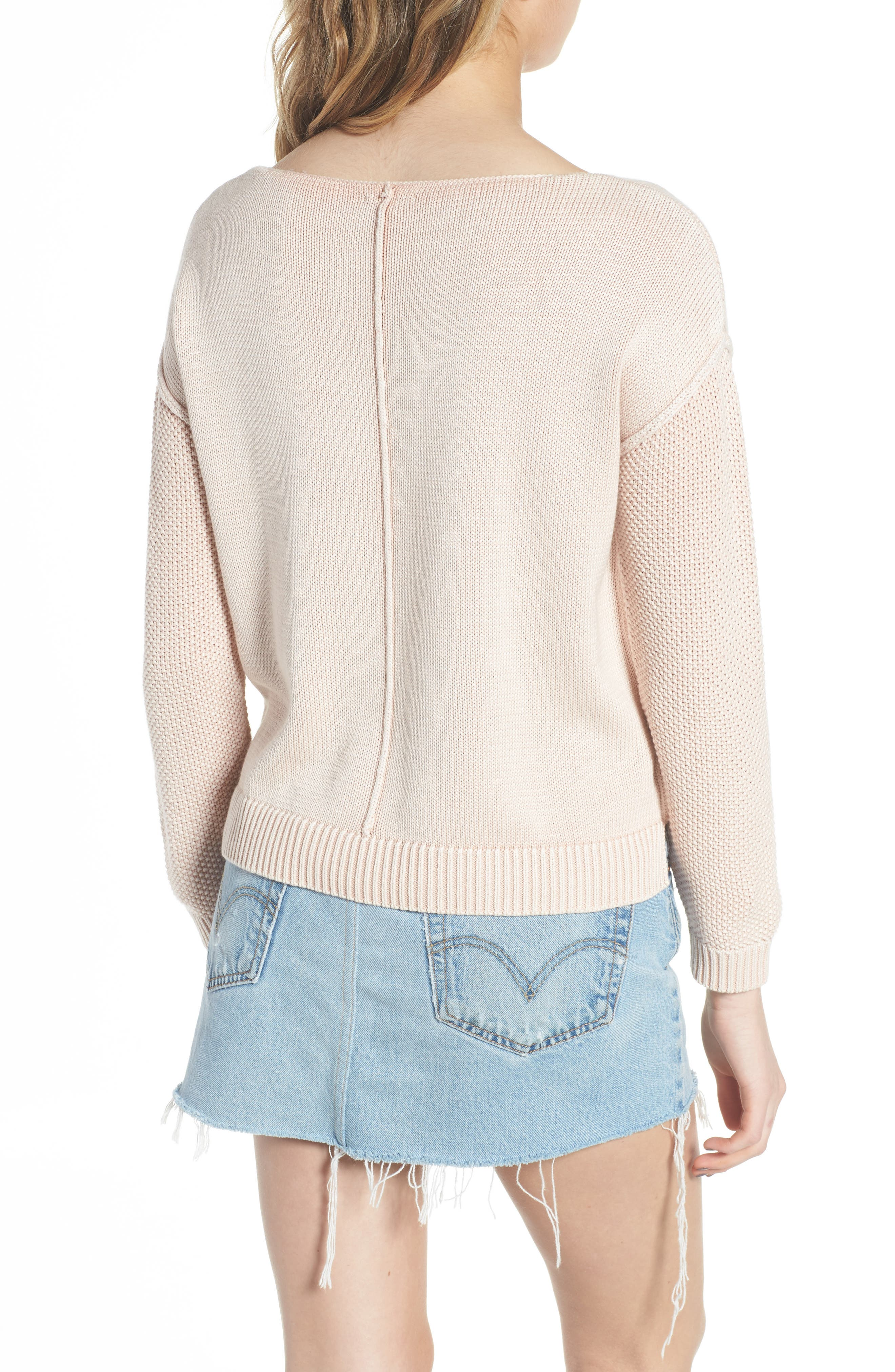 Erin Knit Sweater,                             Alternate thumbnail 2, color,                             Sand Washed Blush