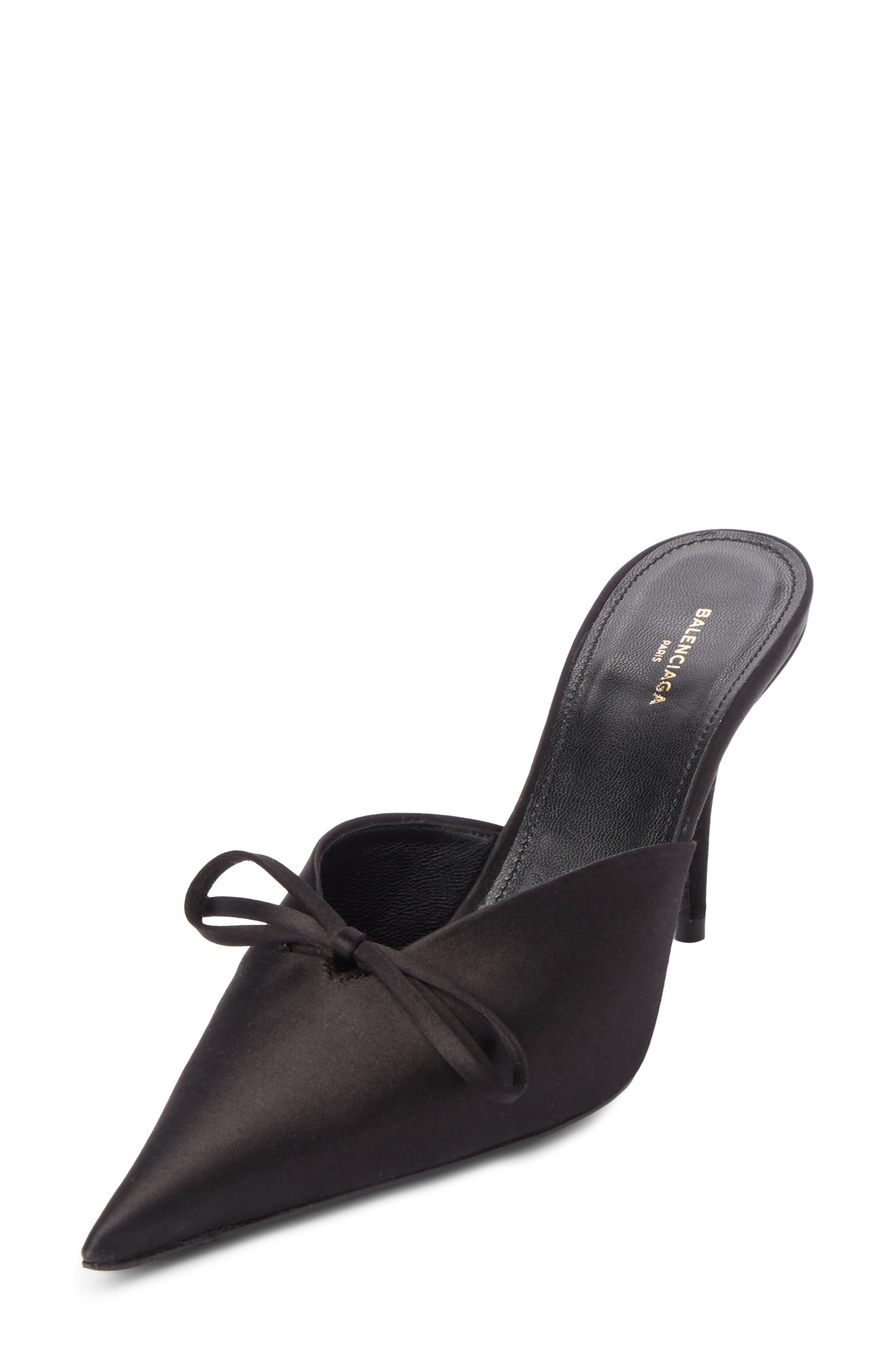 Pointy Toe Mule,                         Main,                         color, Black