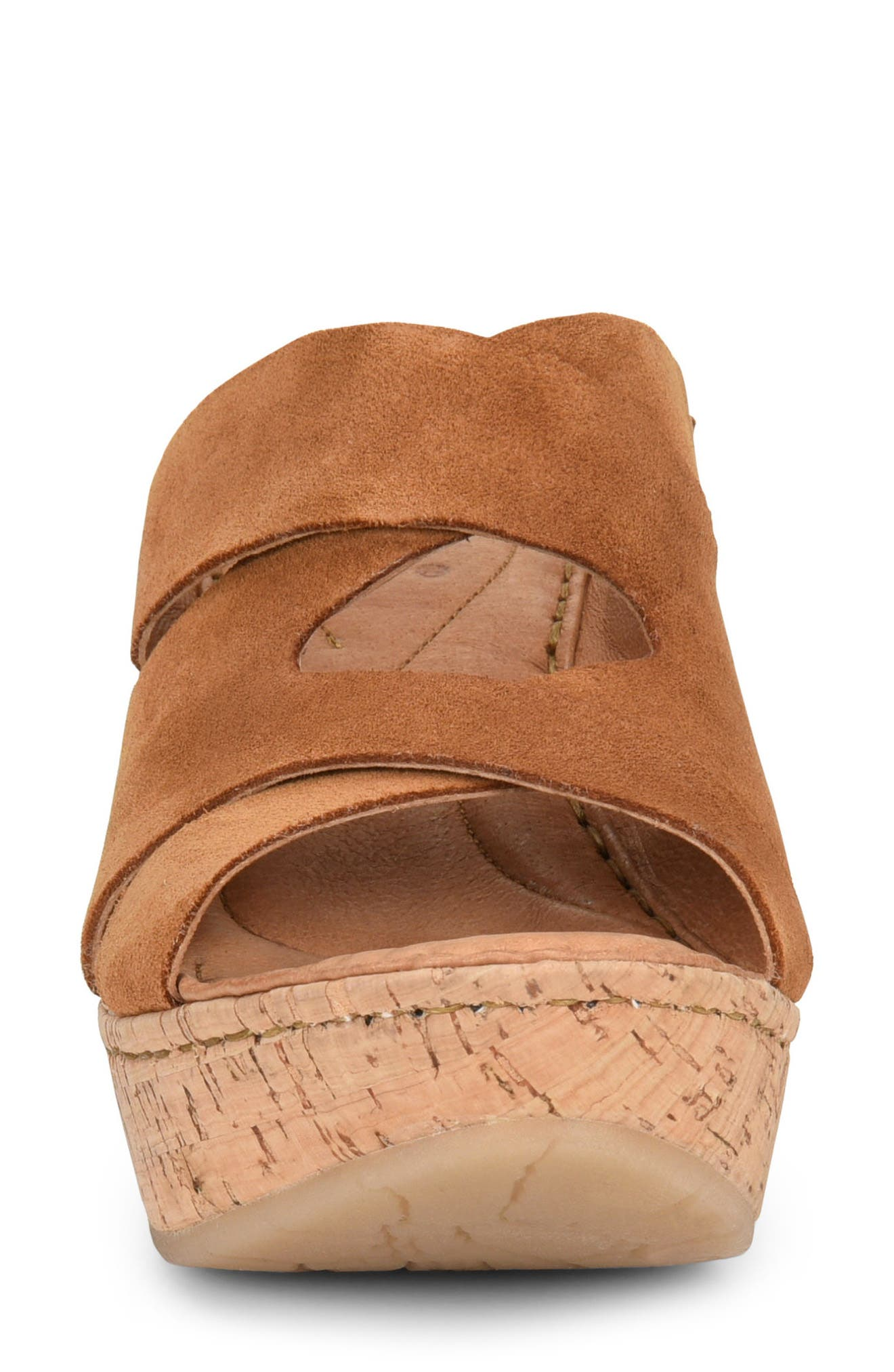 Padron Wedge Sandal,                             Alternate thumbnail 4, color,                             Tan Suede