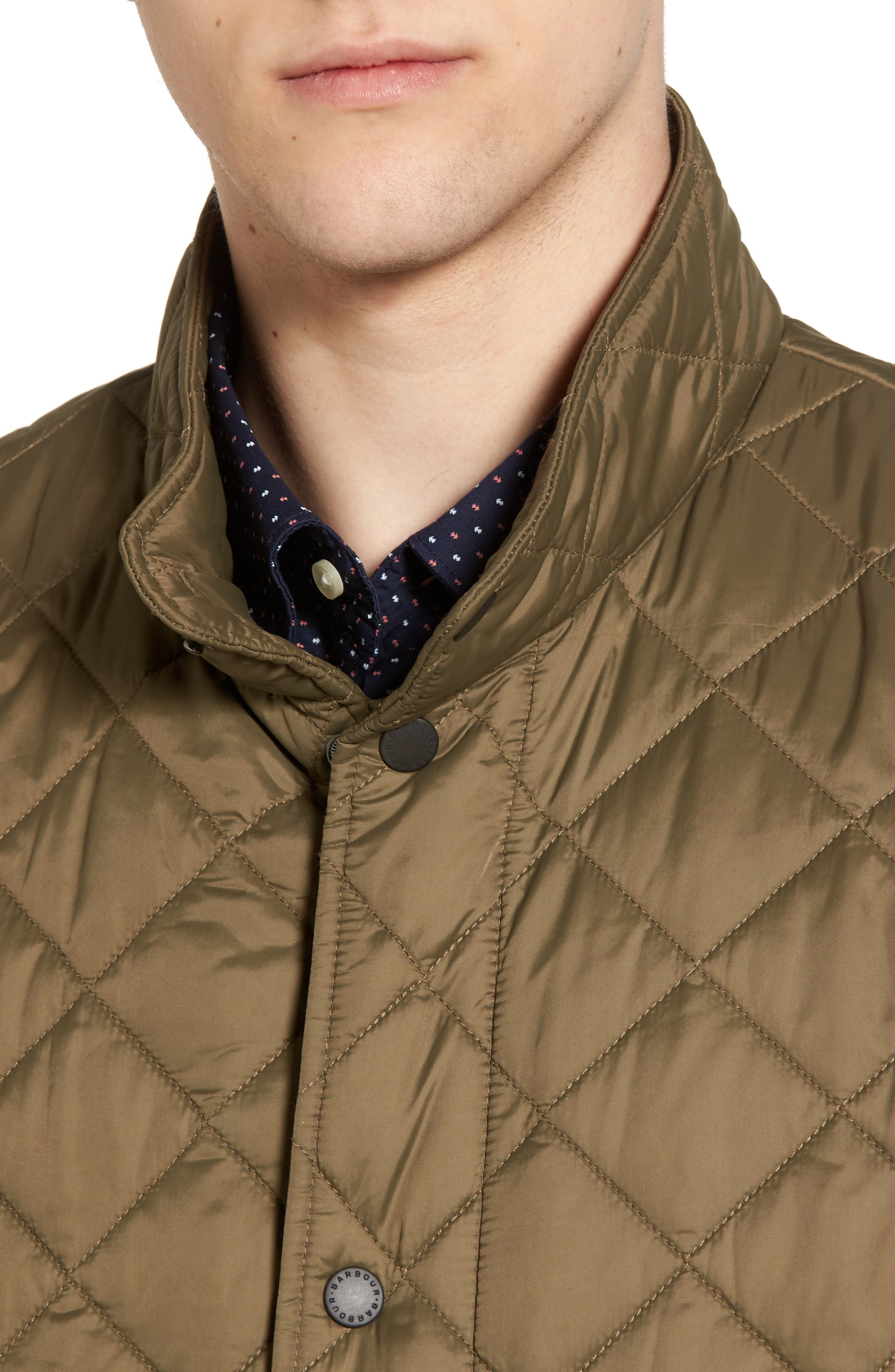 Flyweight Chelsea Quilted Jacket,                             Alternate thumbnail 4, color,                             Clay
