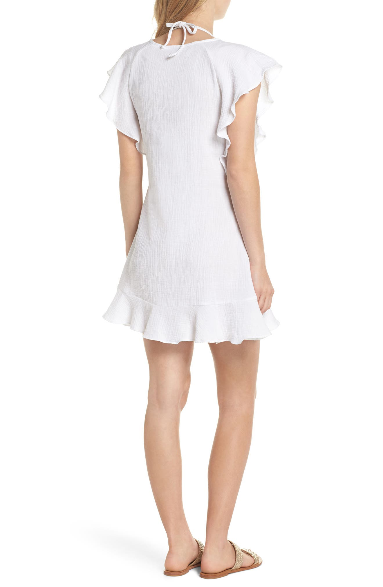 Fia Cover-Up Dress,                             Alternate thumbnail 2, color,                             White