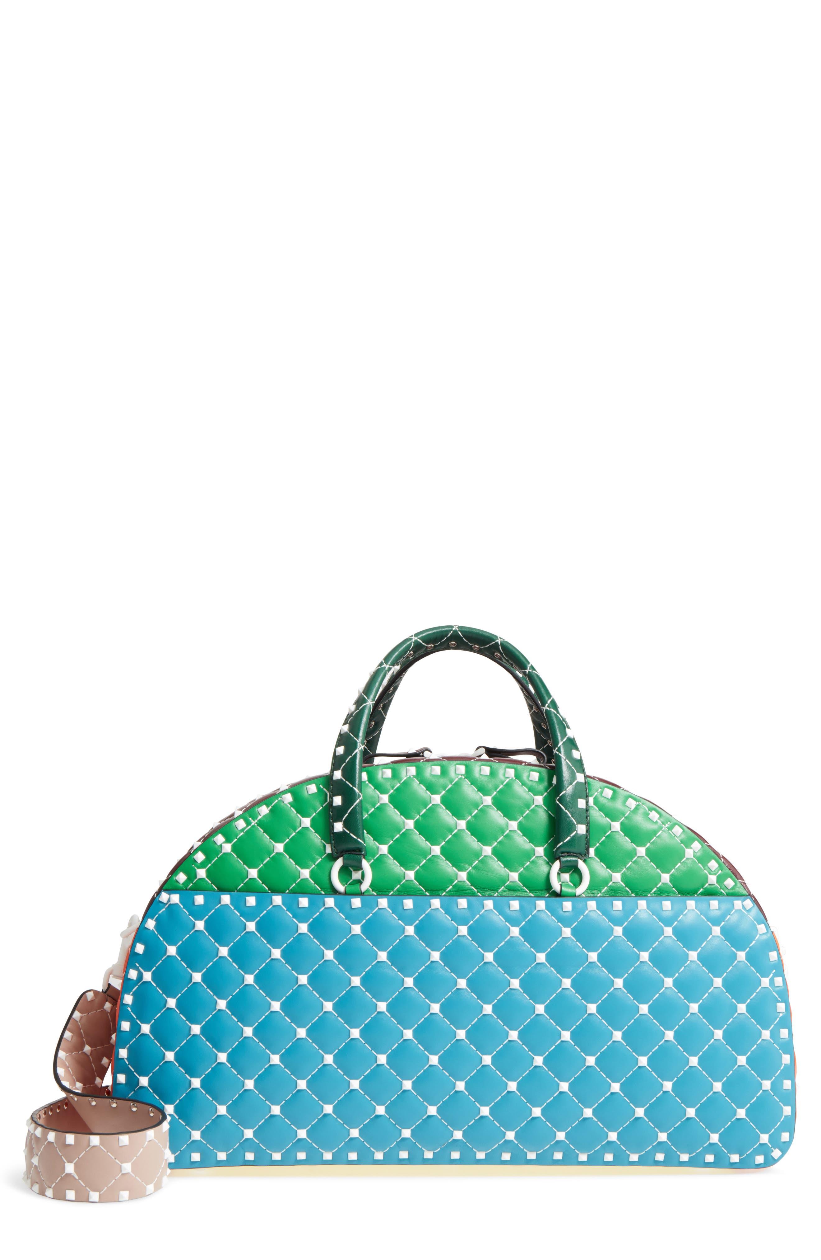 VALENTINO GARAVANI Rockstud Leather Bowling Bag
