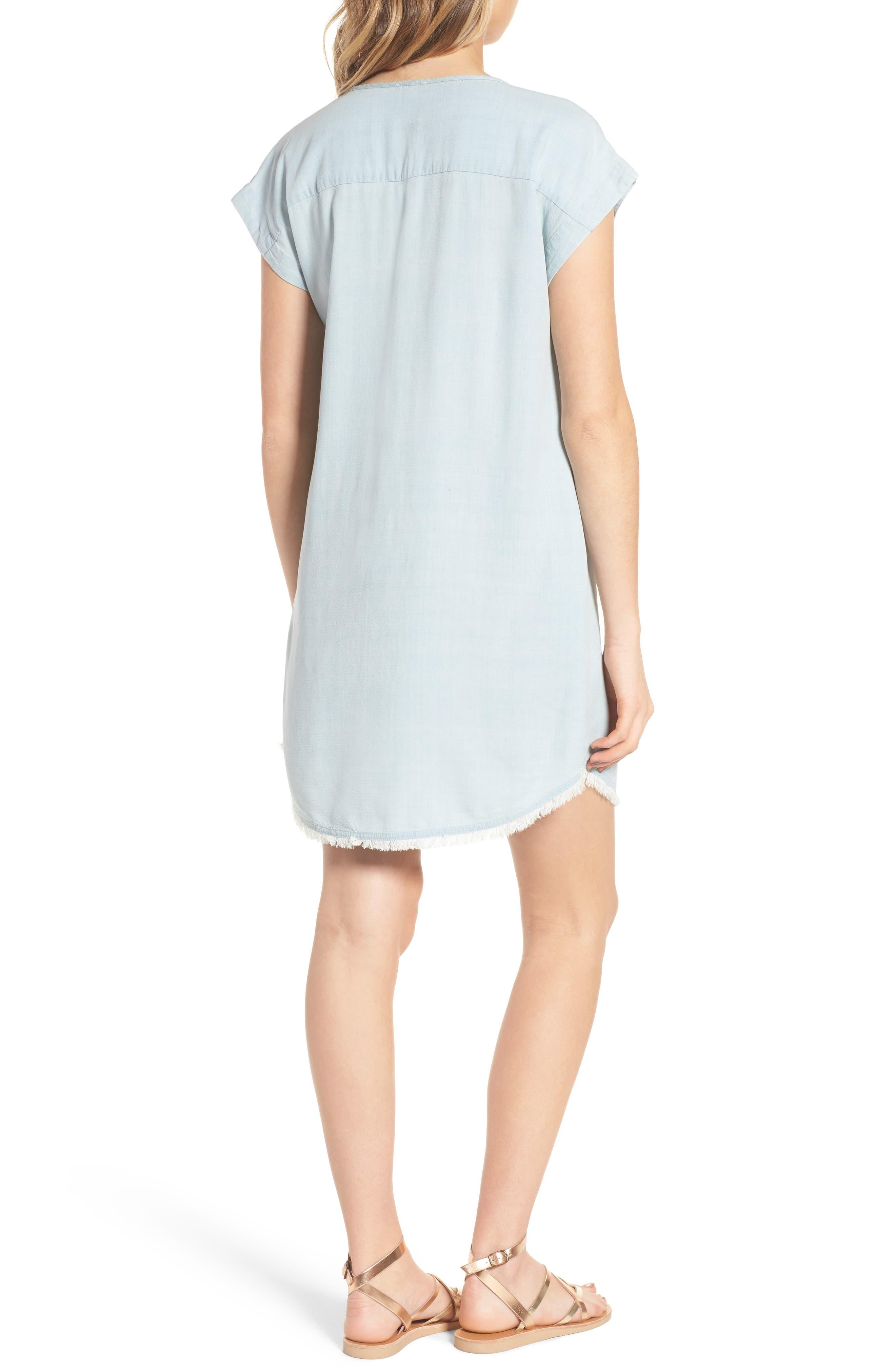 Chambray Shift Dress,                             Alternate thumbnail 2, color,                             Polar