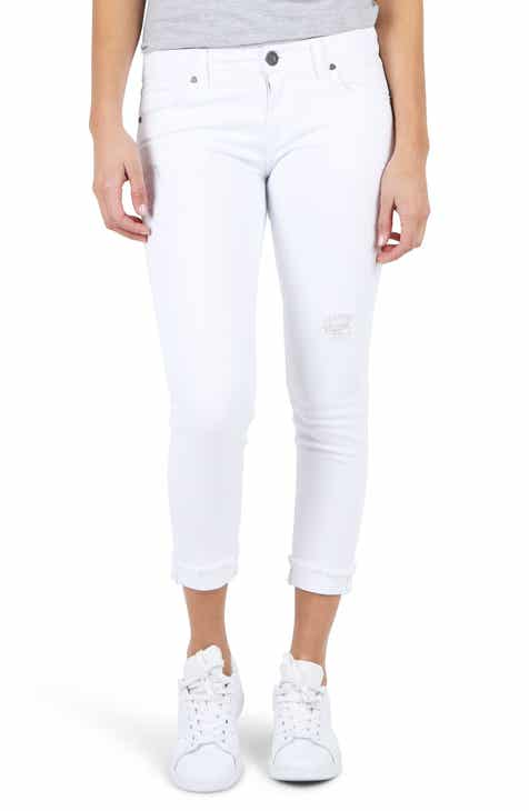 KUT From The Kloth Amy Crop White Jeans By KUT FROM THE KLOTH by KUT FROM THE KLOTH Cool