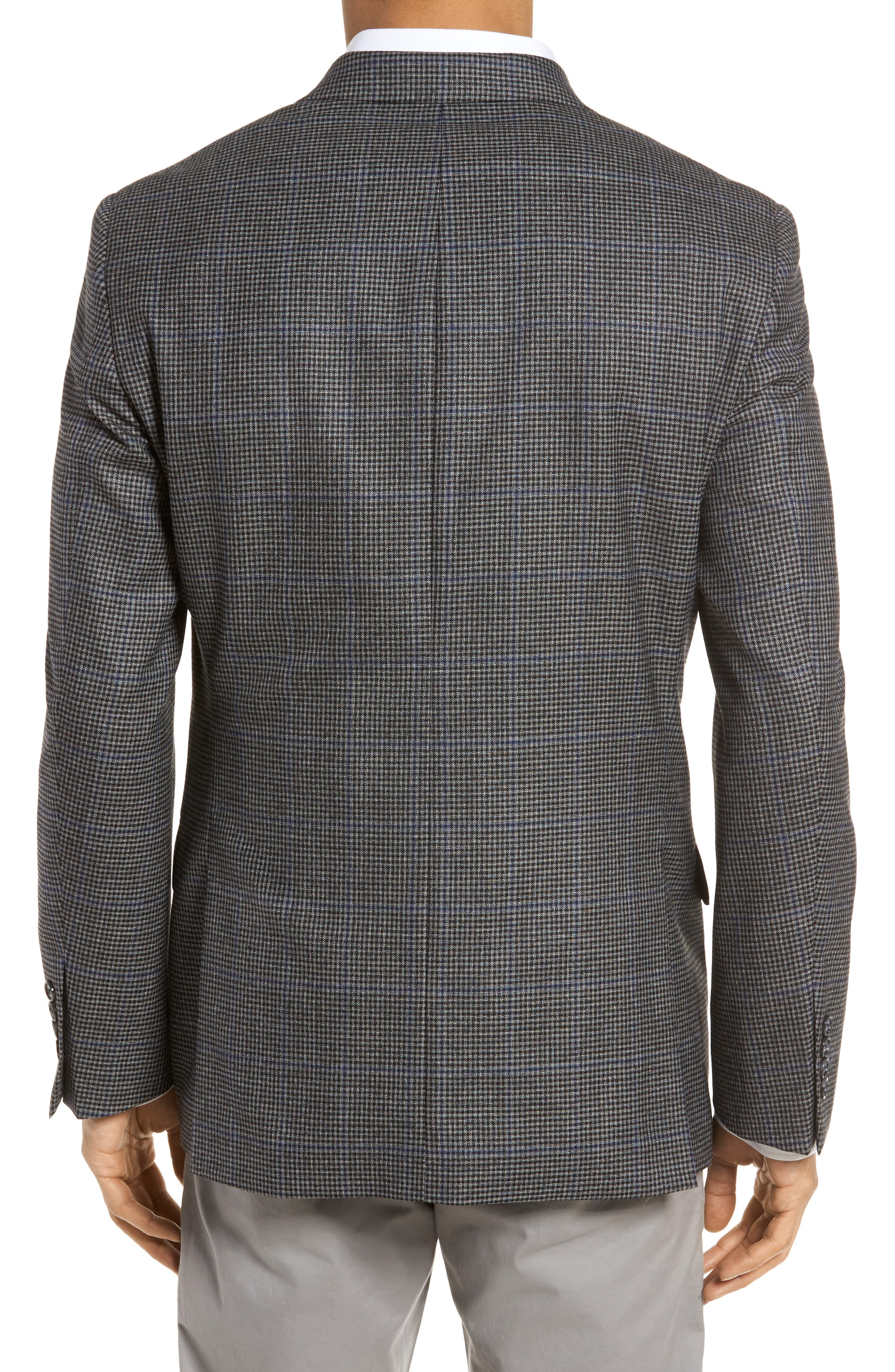 Classic Fit Stretch Check Wool Sport Coat,                             Alternate thumbnail 2, color,                             Grey