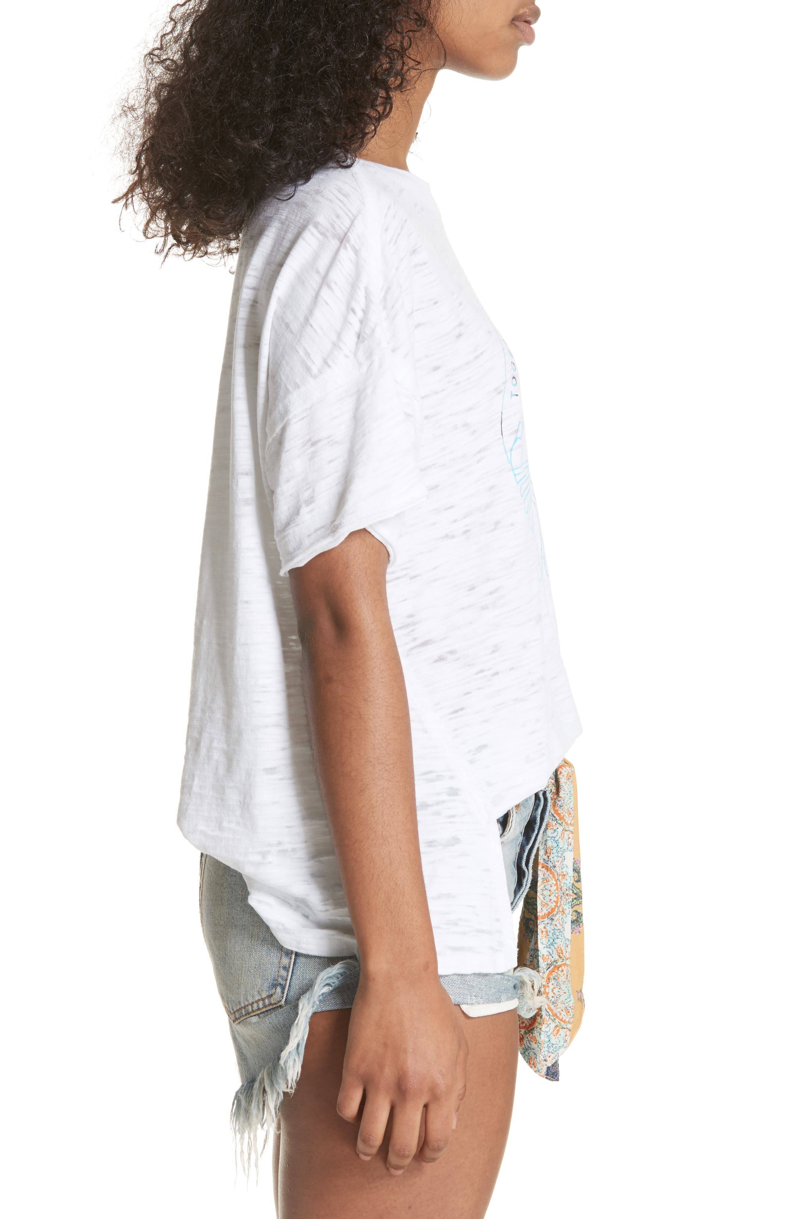 Graphic Tee,                             Alternate thumbnail 3, color,                             White