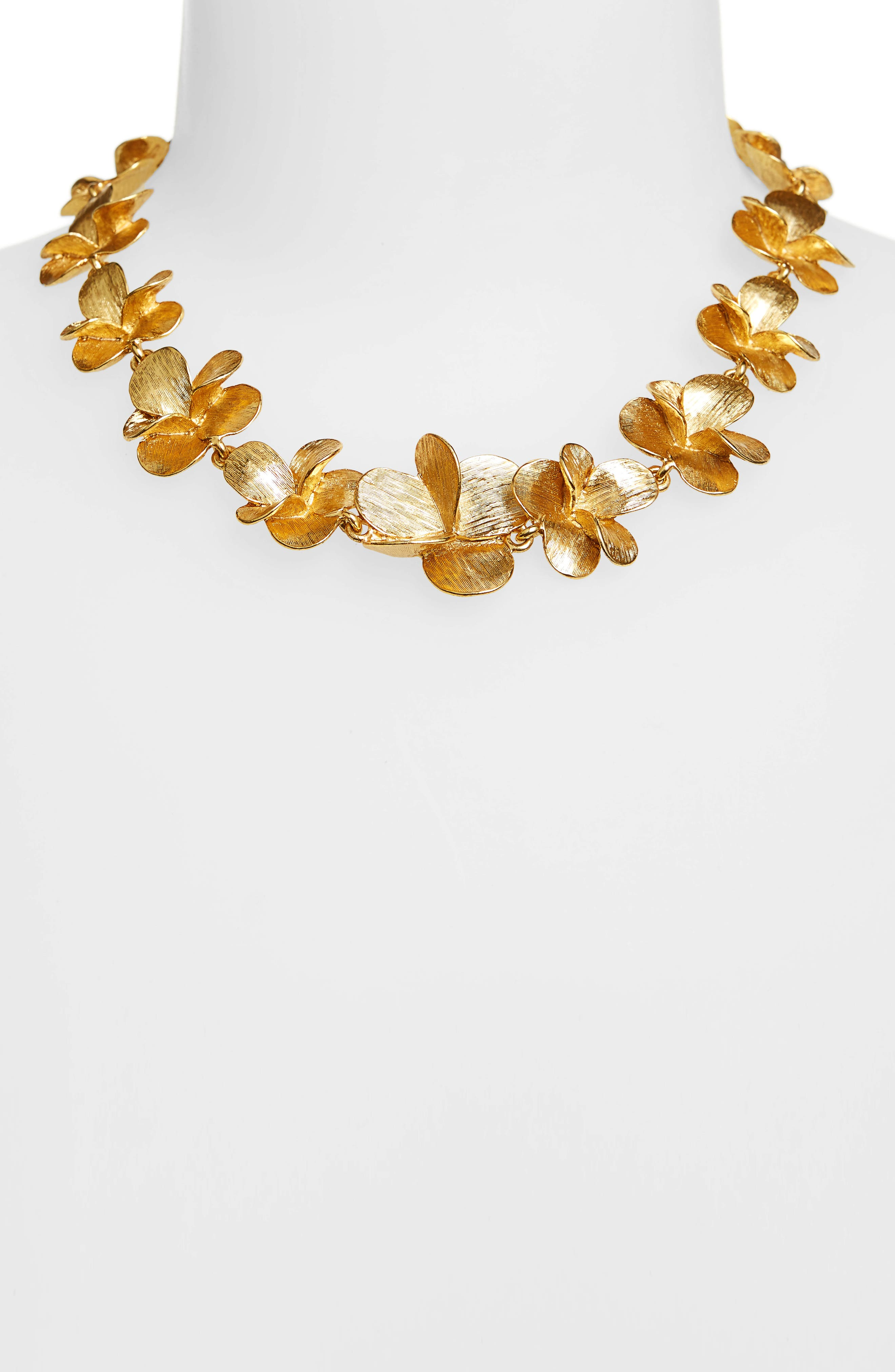Brushed Collar Necklace,                             Alternate thumbnail 2, color,                             Gold