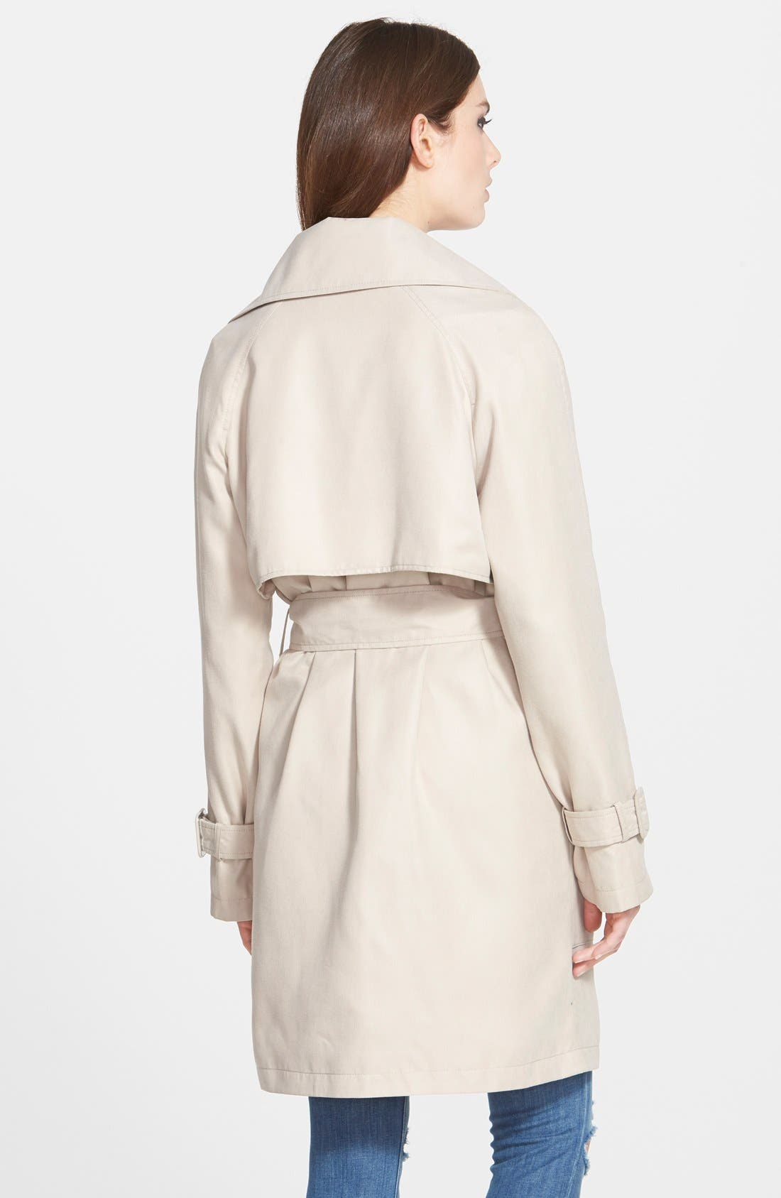 Alternate Image 2  - BCBGeneration Patch Pocket Double Breasted Trench Coat